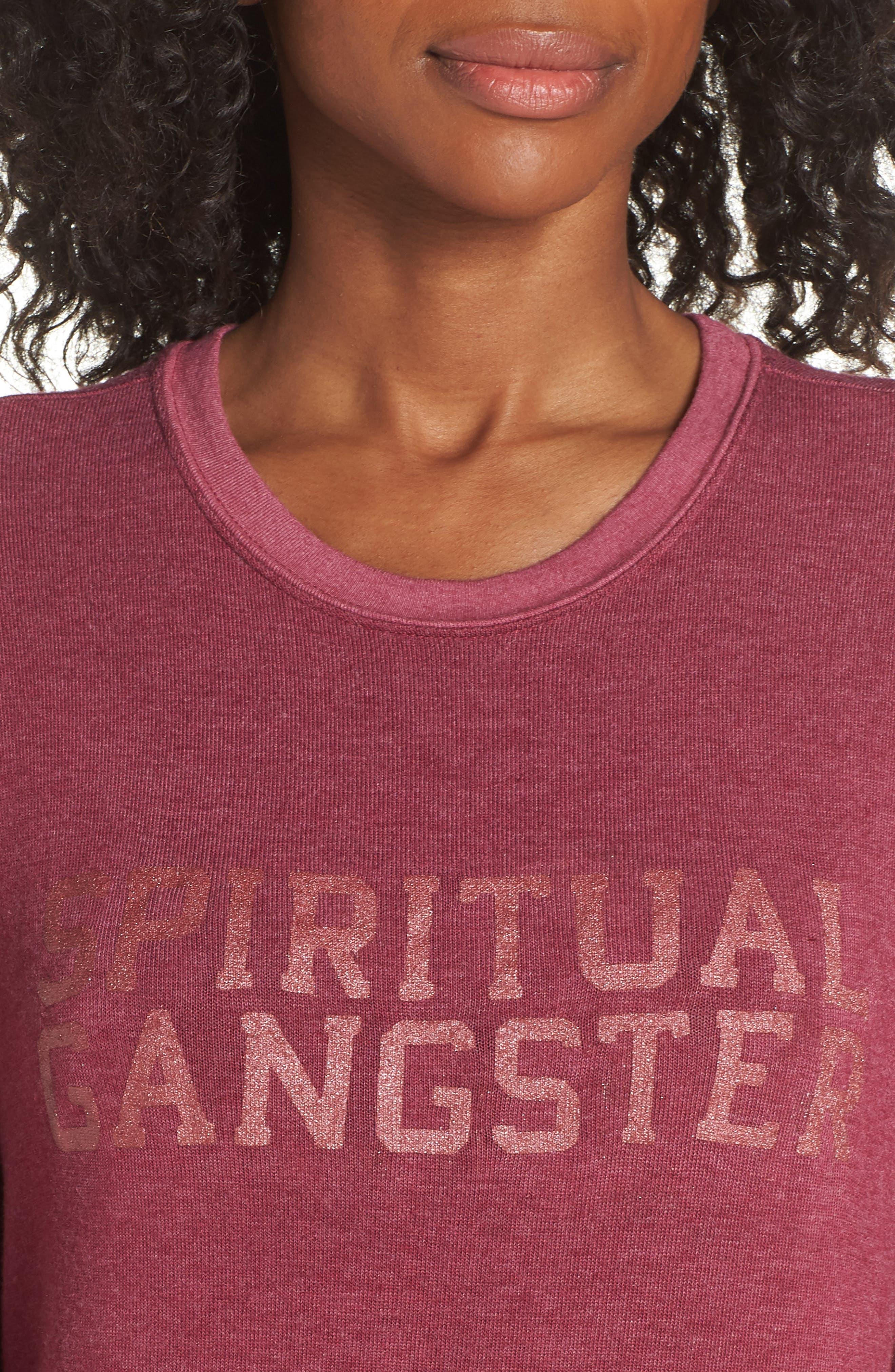 Varsity Crop Sweatshirt,                             Alternate thumbnail 4, color,                             AMOR