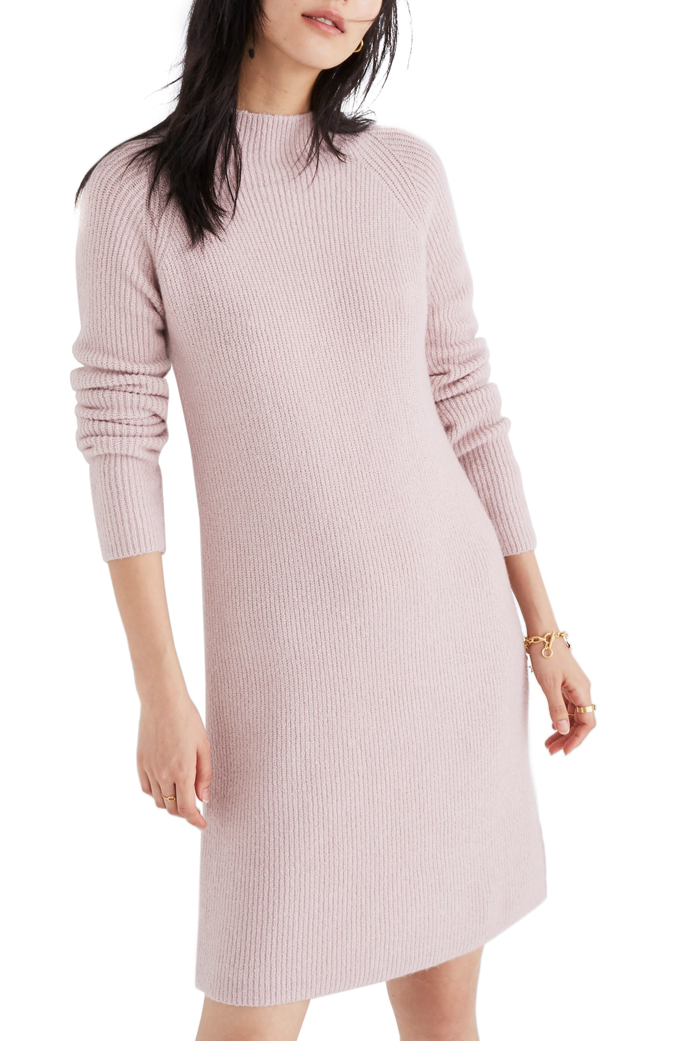 Madewell Northfield Mock Neck Sweater Dress