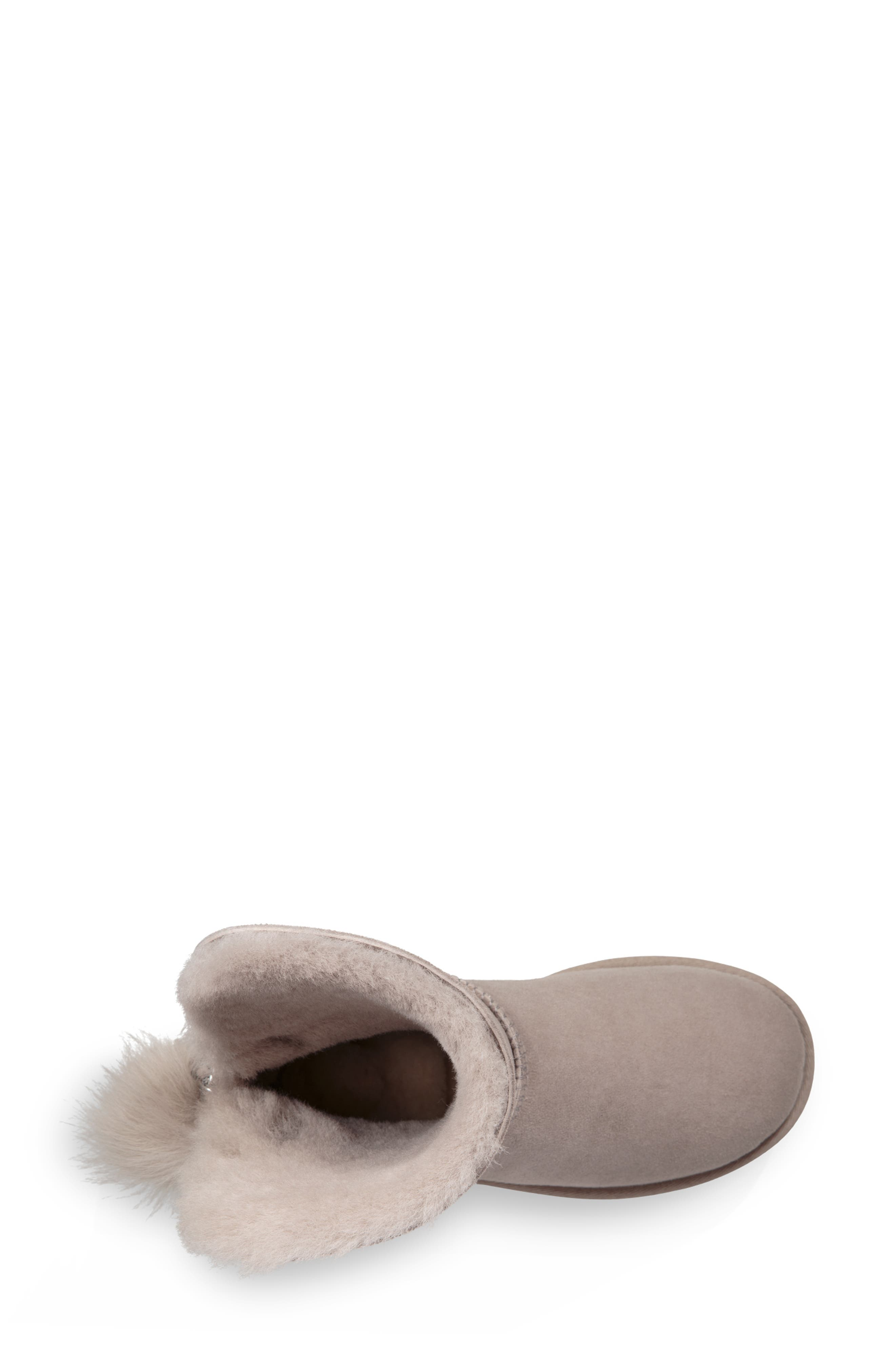 Classic Charm Bootie,                             Alternate thumbnail 4, color,                             WILLOW SUEDE