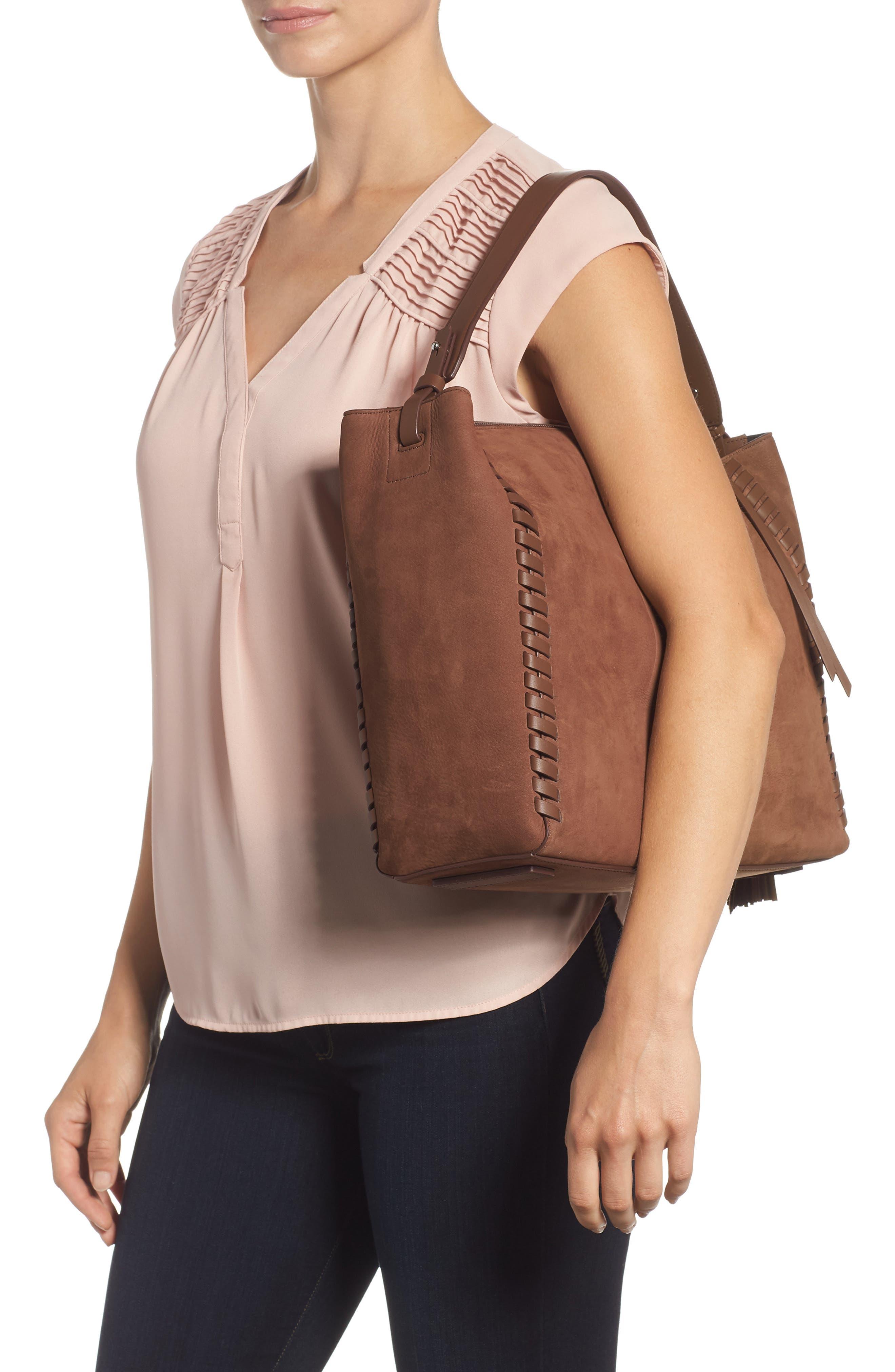 Kepi East/West Leather Shoulder Bag,                             Alternate thumbnail 2, color,                             210