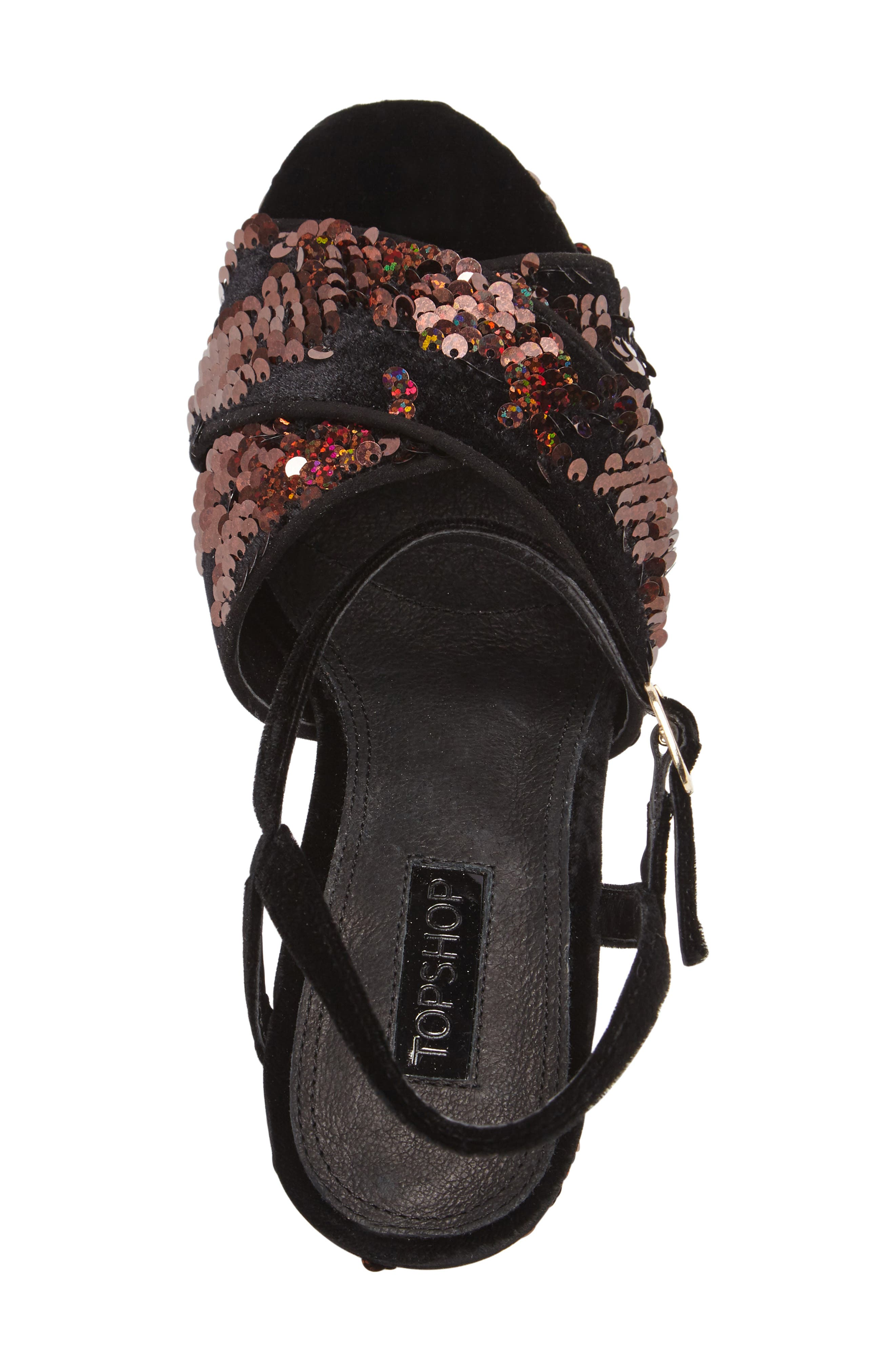 'Leona' Print Platform Sandal,                             Alternate thumbnail 3, color,                             002