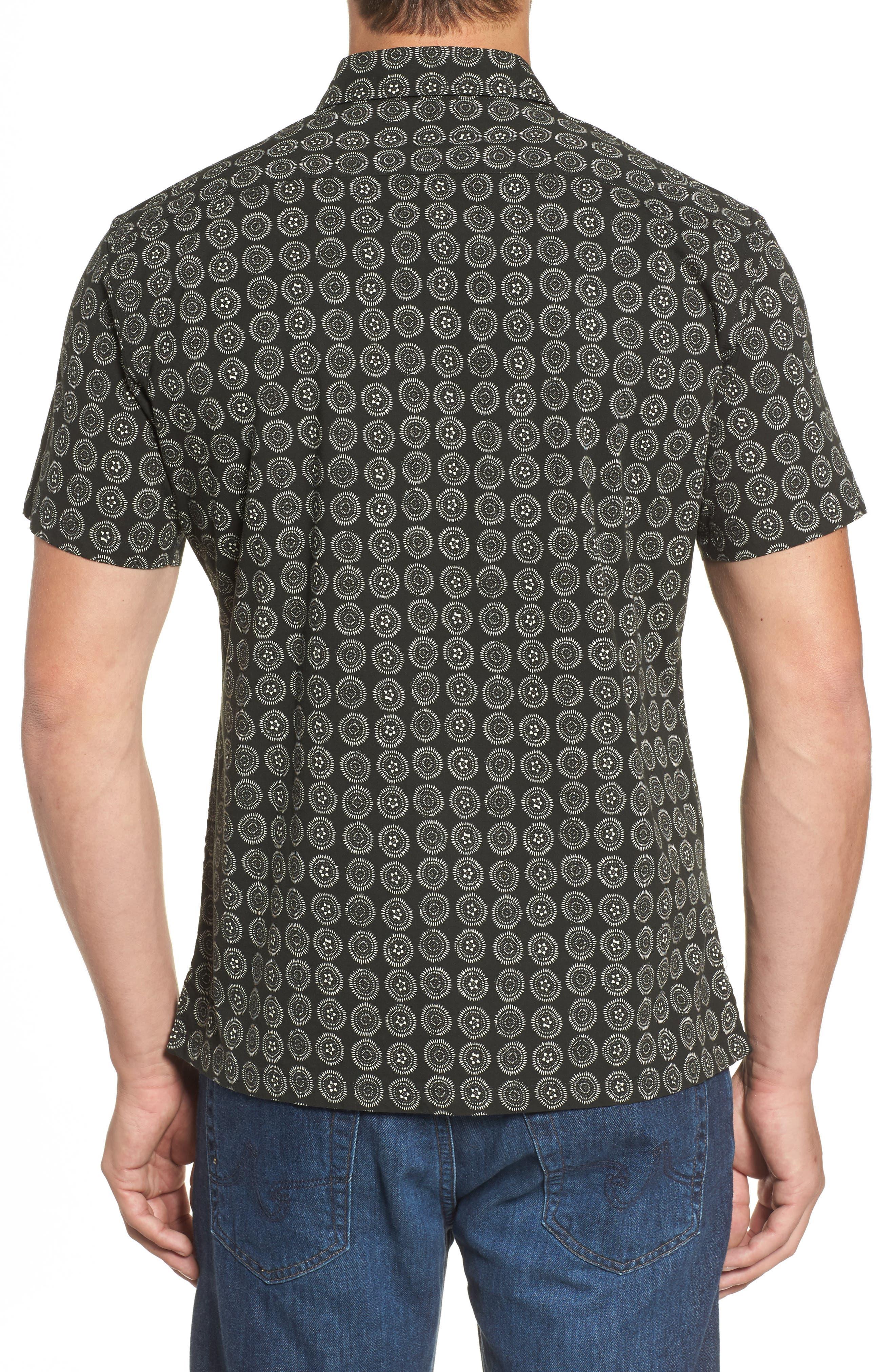 Sea Crest Slim Fit Print Camp Shirt,                             Alternate thumbnail 2, color,                             001