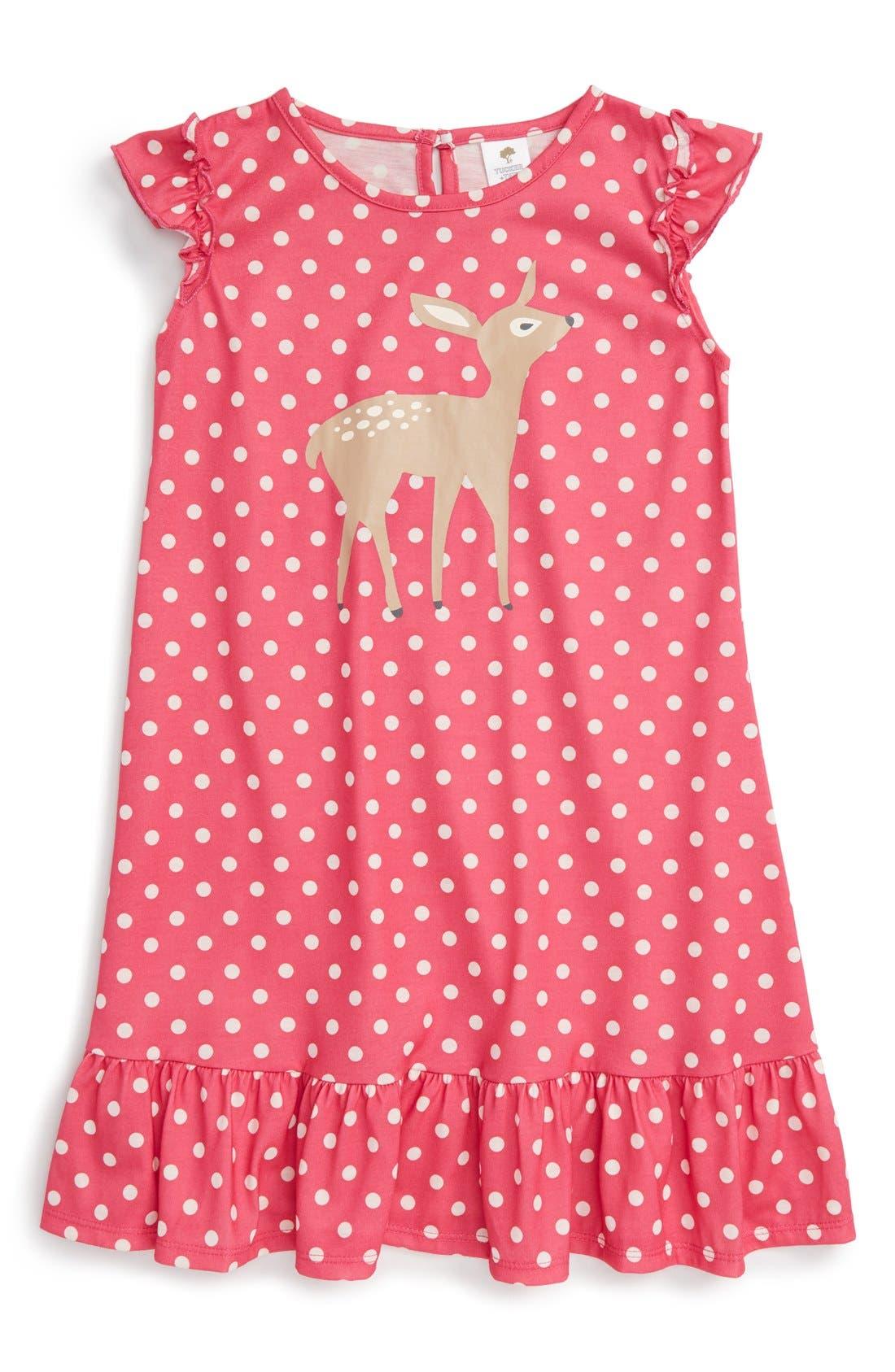 Ruffle Nightgown,                             Main thumbnail 6, color,