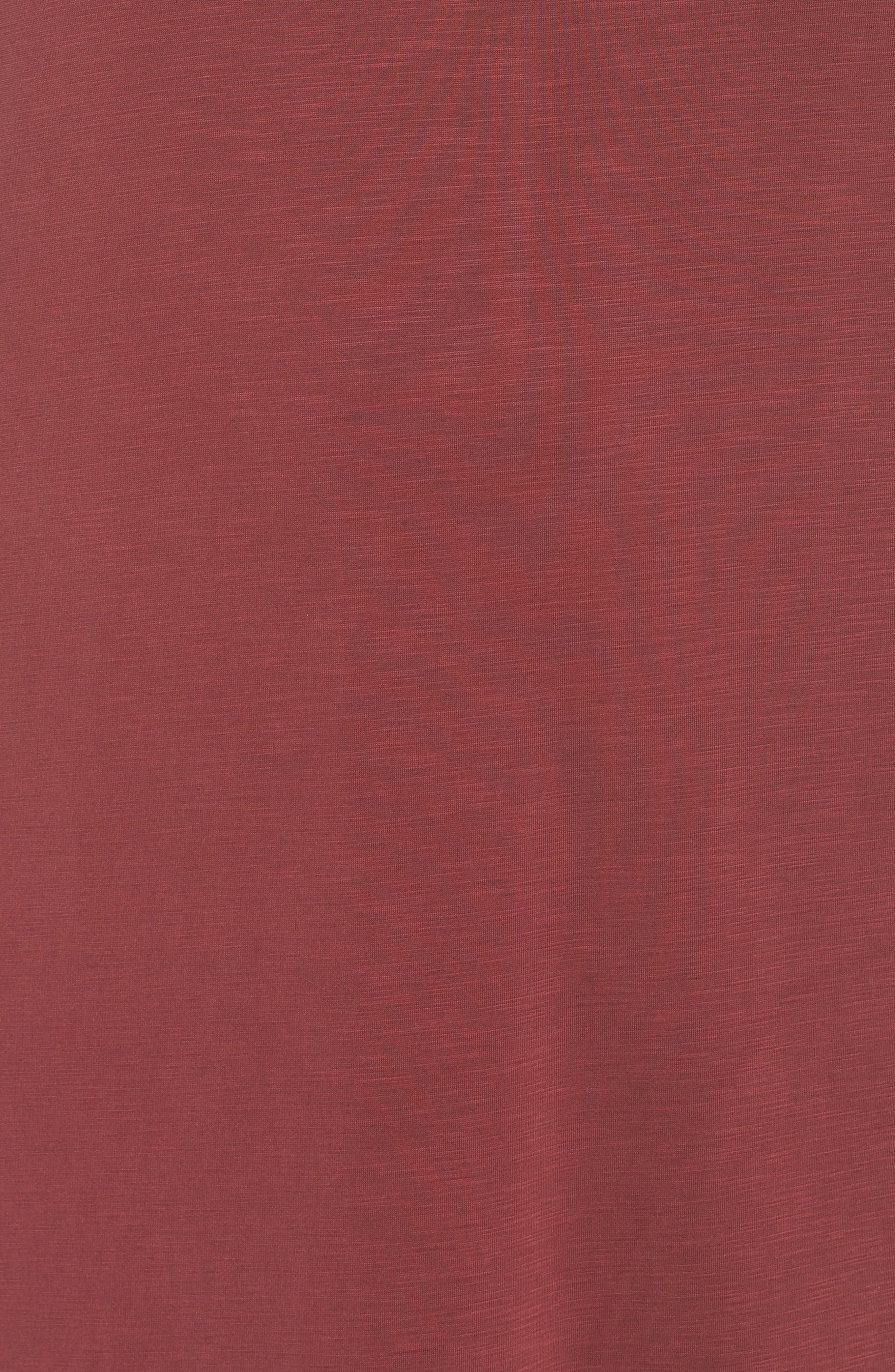 Boardwalk Jersey High/Low Dress,                             Alternate thumbnail 6, color,                             WASHED RAISIN