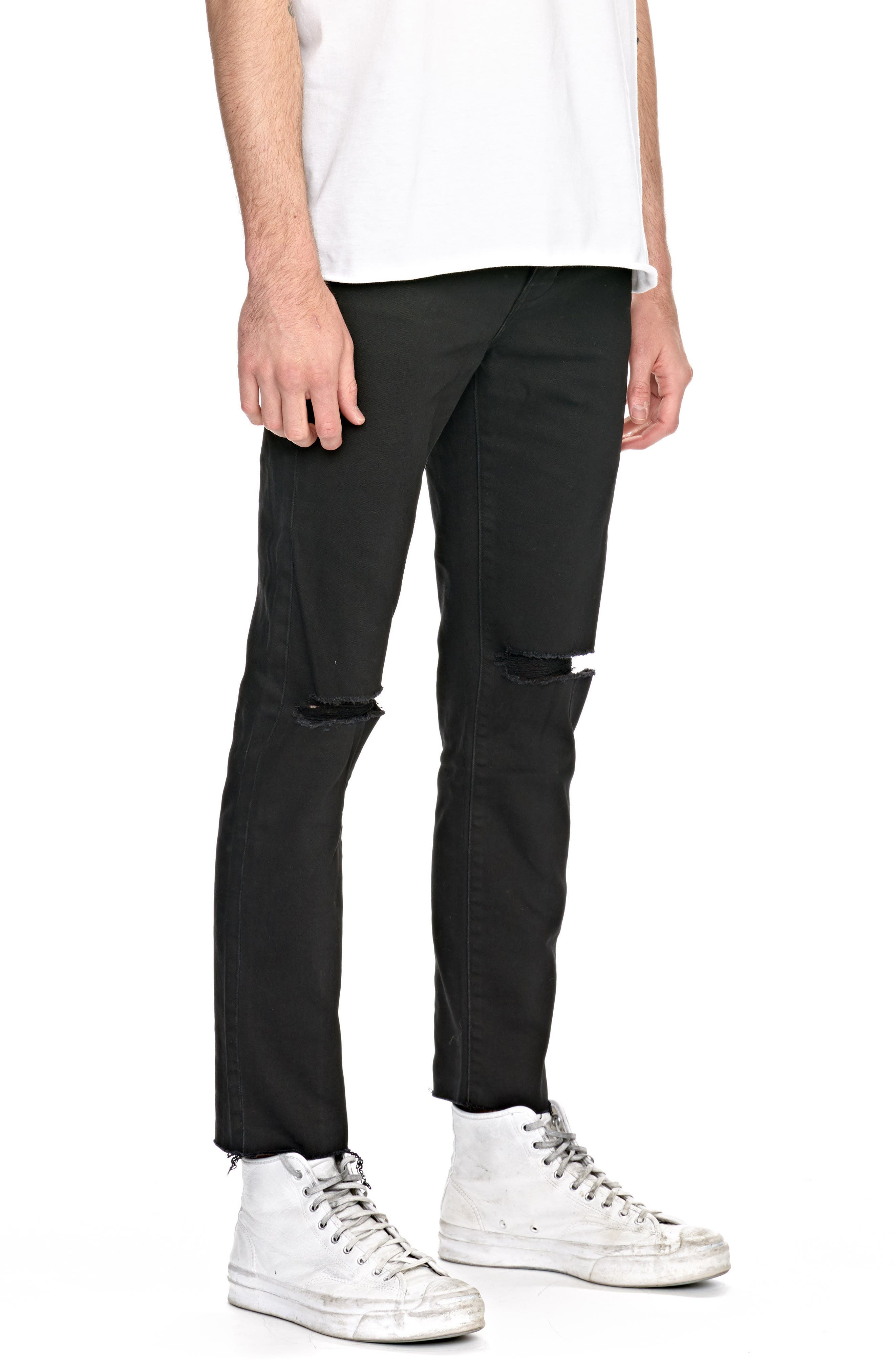 Iggy Skinny Fit Jeans,                             Alternate thumbnail 3, color,                             001