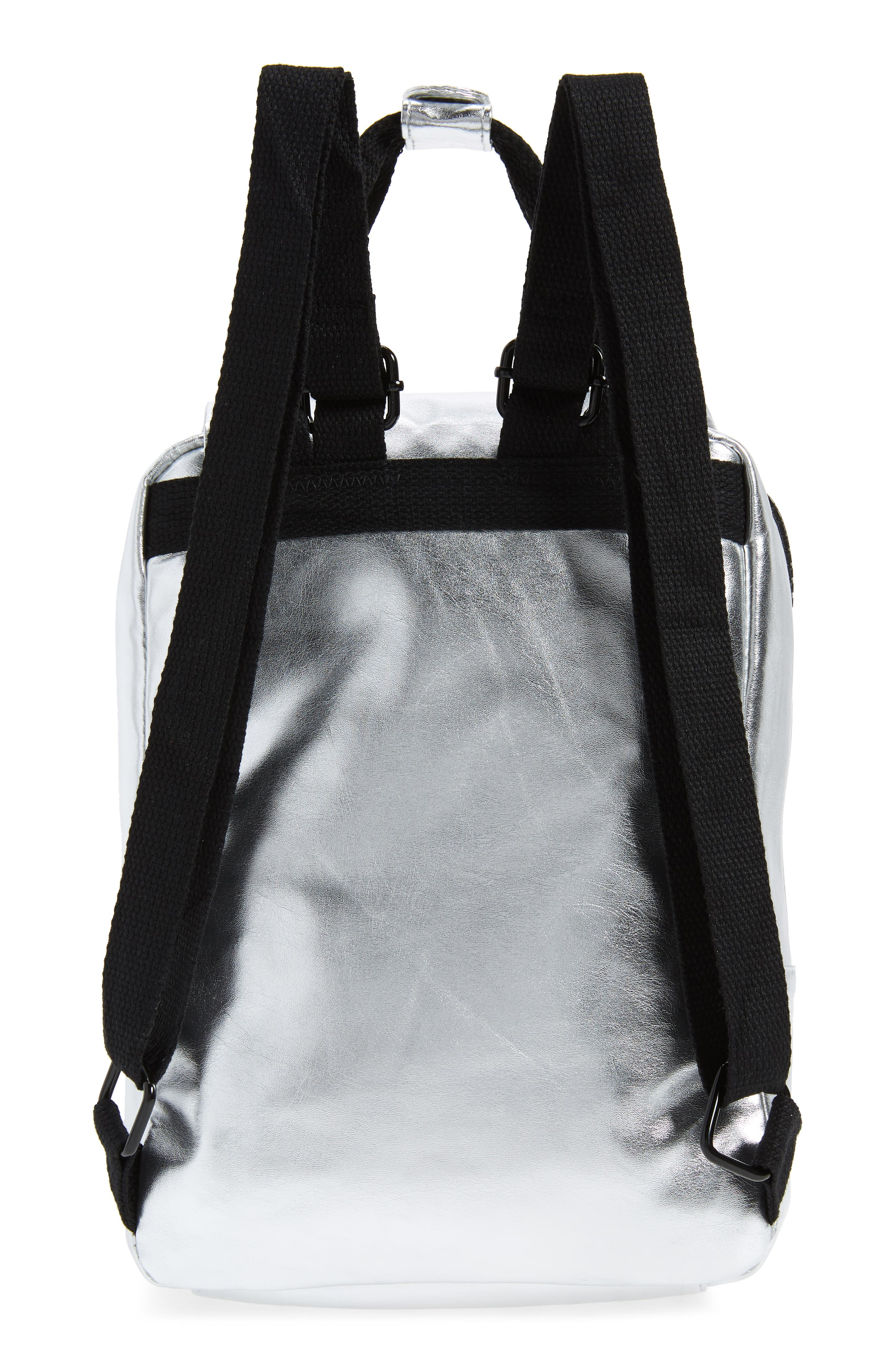 Mini Metallic Utility Backpack,                             Alternate thumbnail 3, color,                             PEWTER