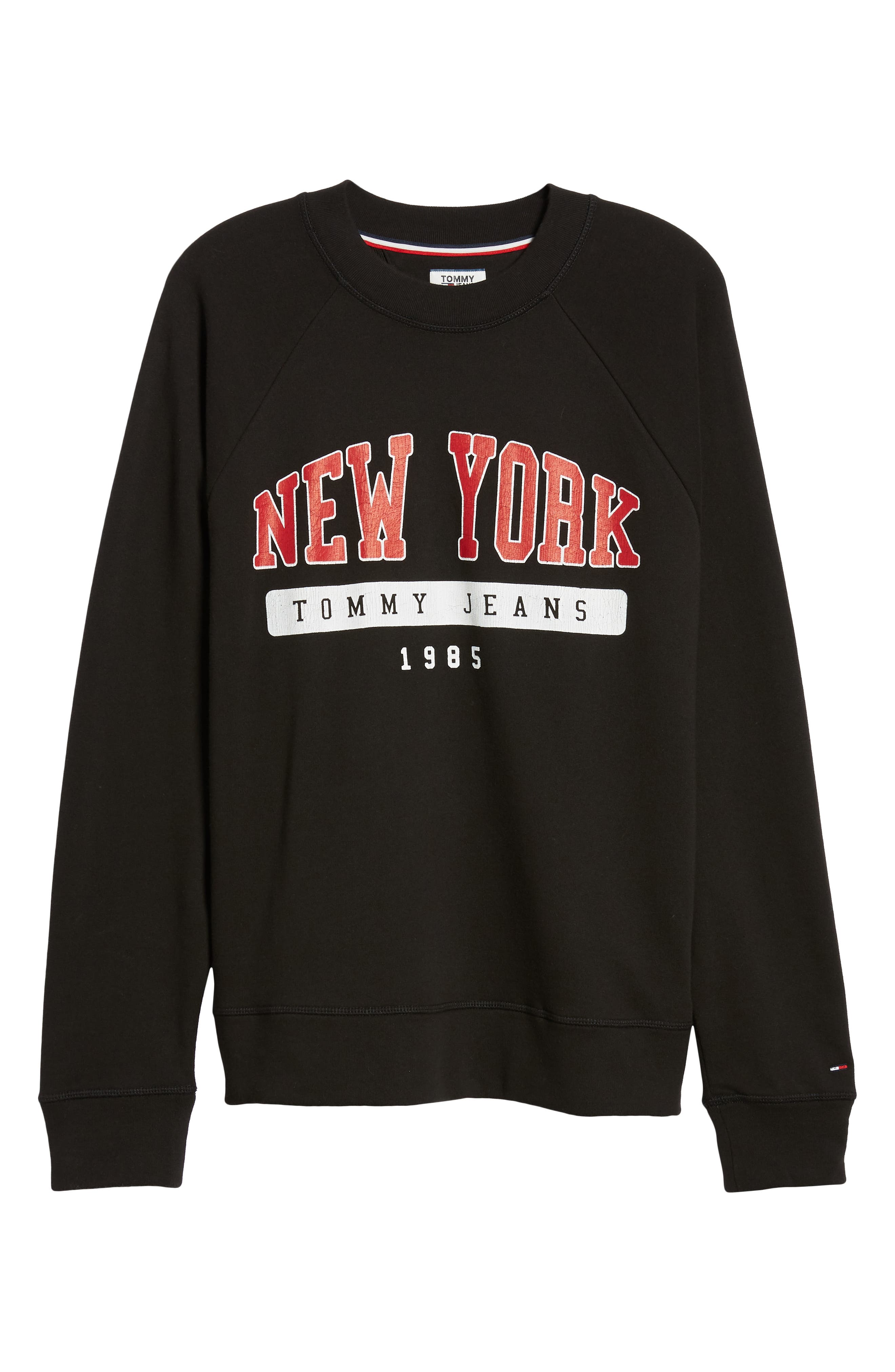 Oversize New York Sweatshirt,                             Alternate thumbnail 6, color,                             TOMMY BLACK