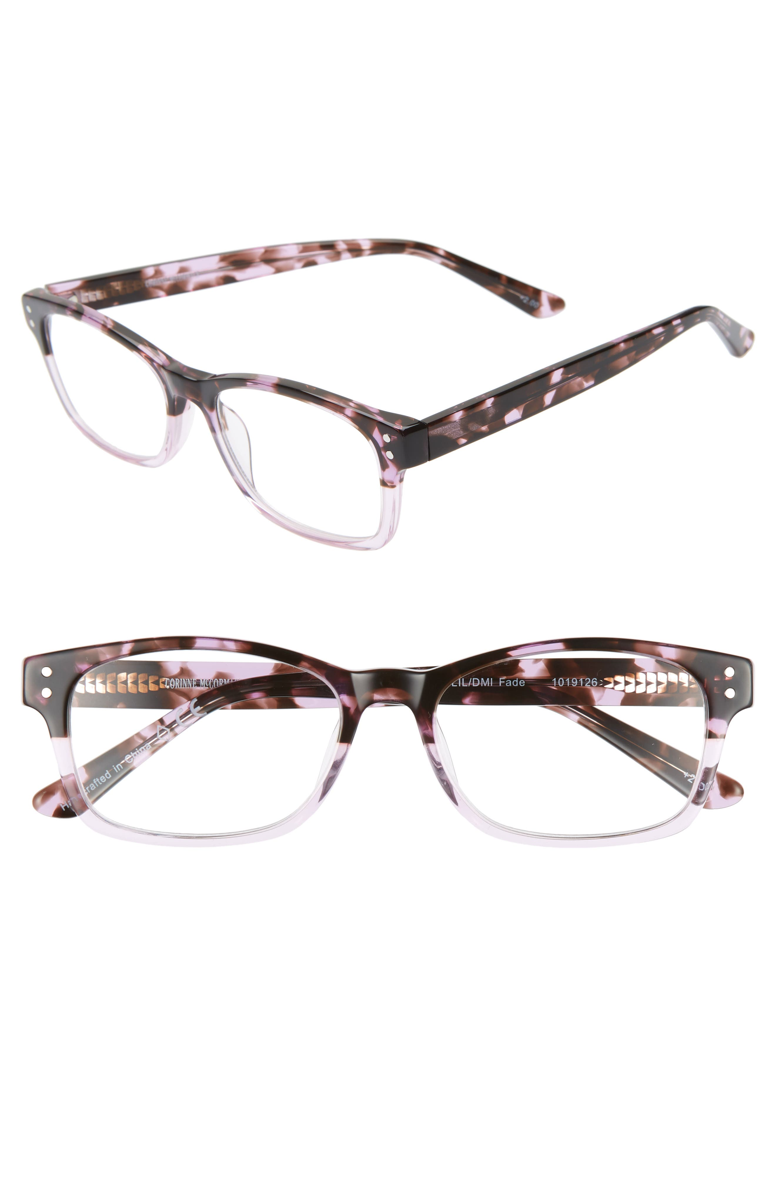 CORINNE MCCORMACK Edie 52Mm Reading Glasses in Lilac Demi Fade