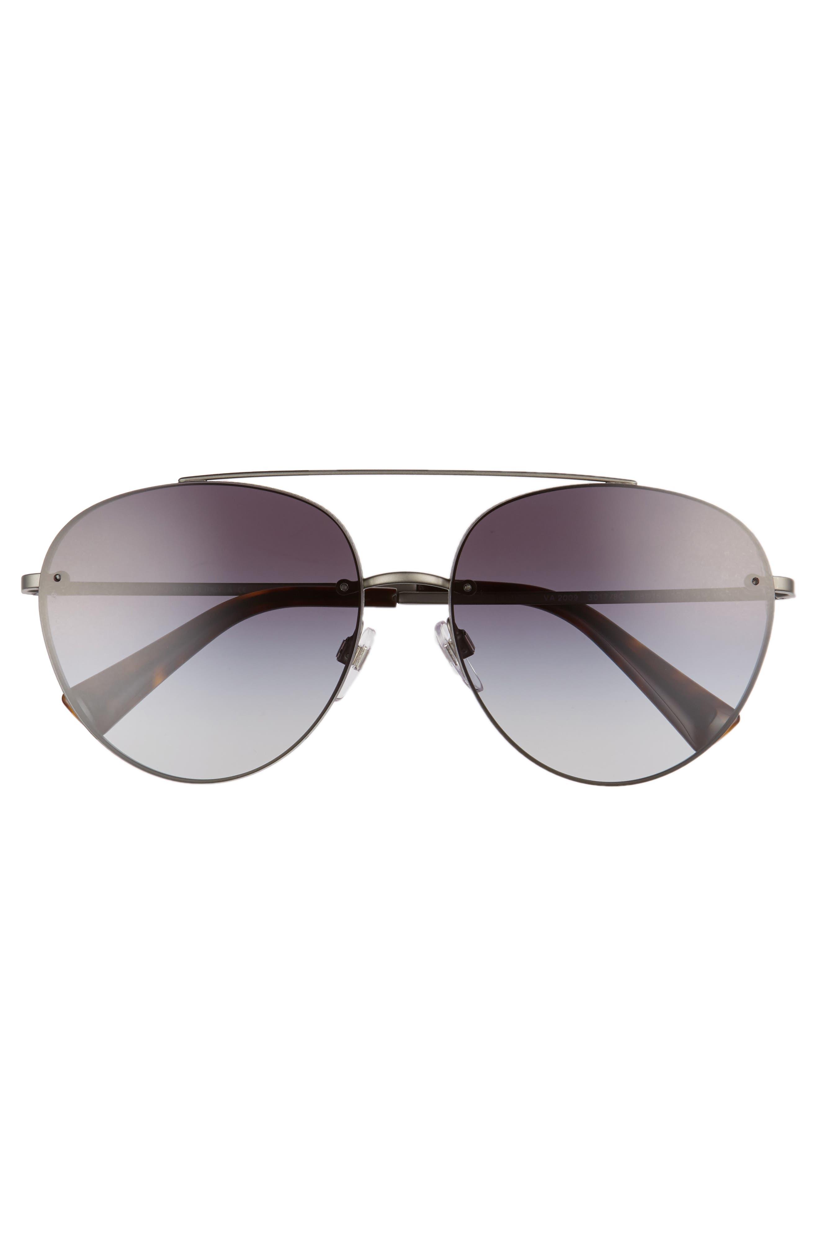 58mm Gradient Aviator Sunglasses,                             Alternate thumbnail 3, color,                             021