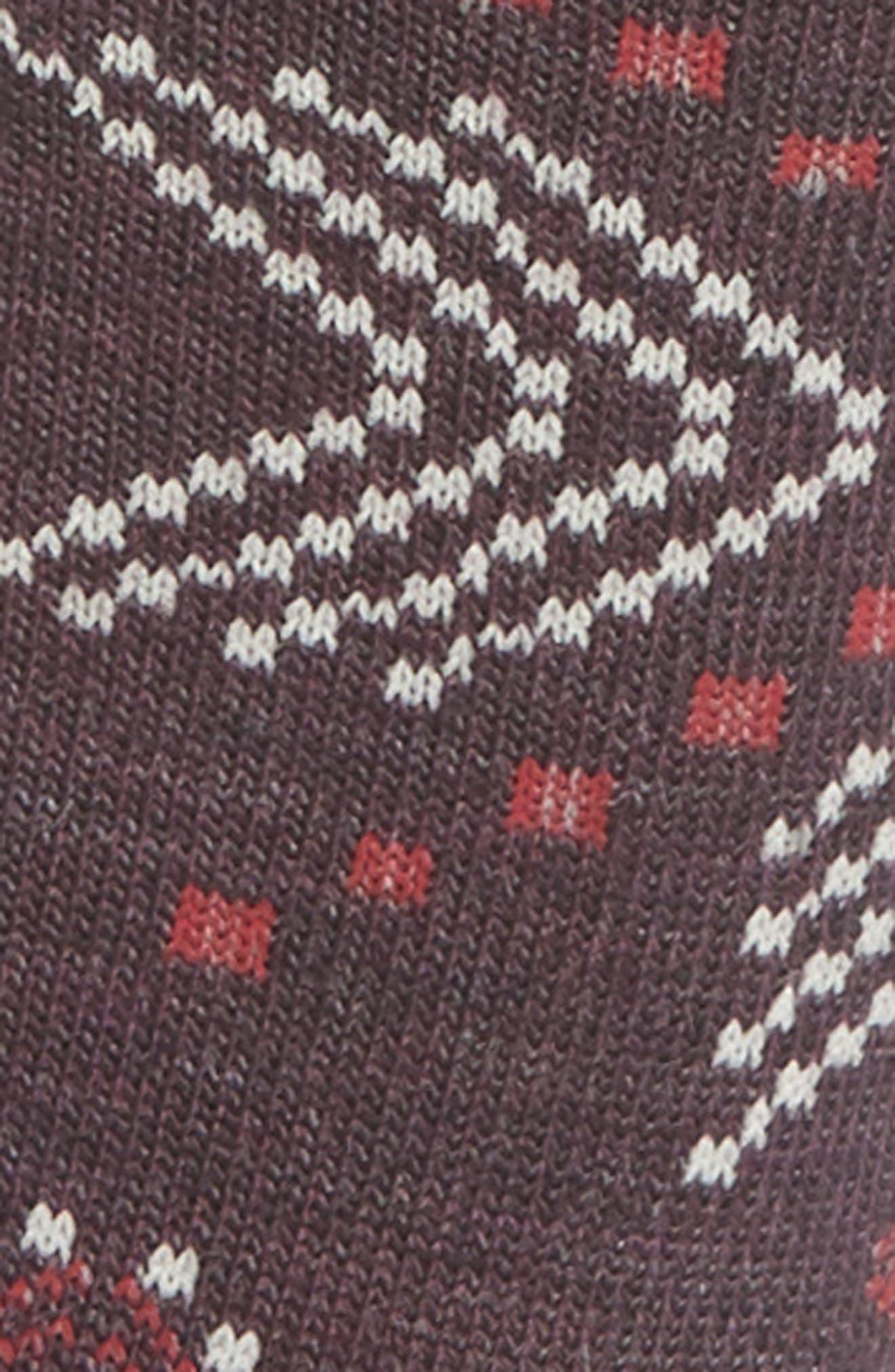 Dasher Crew Socks,                             Alternate thumbnail 2, color,                             BORDEAUX HEATHER