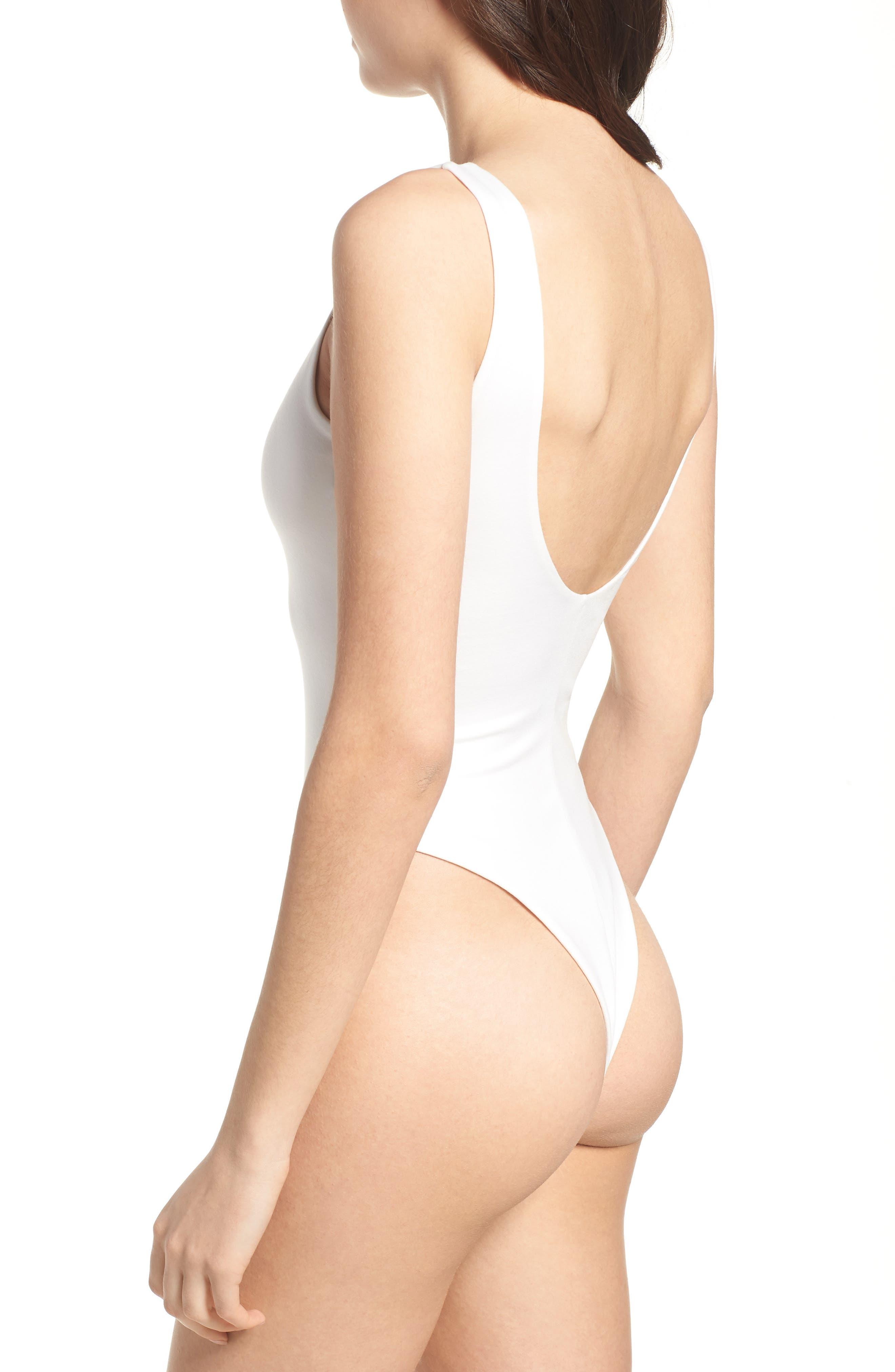 Super Scoop Bodysuit,                             Alternate thumbnail 2, color,                             SOFT WHITE
