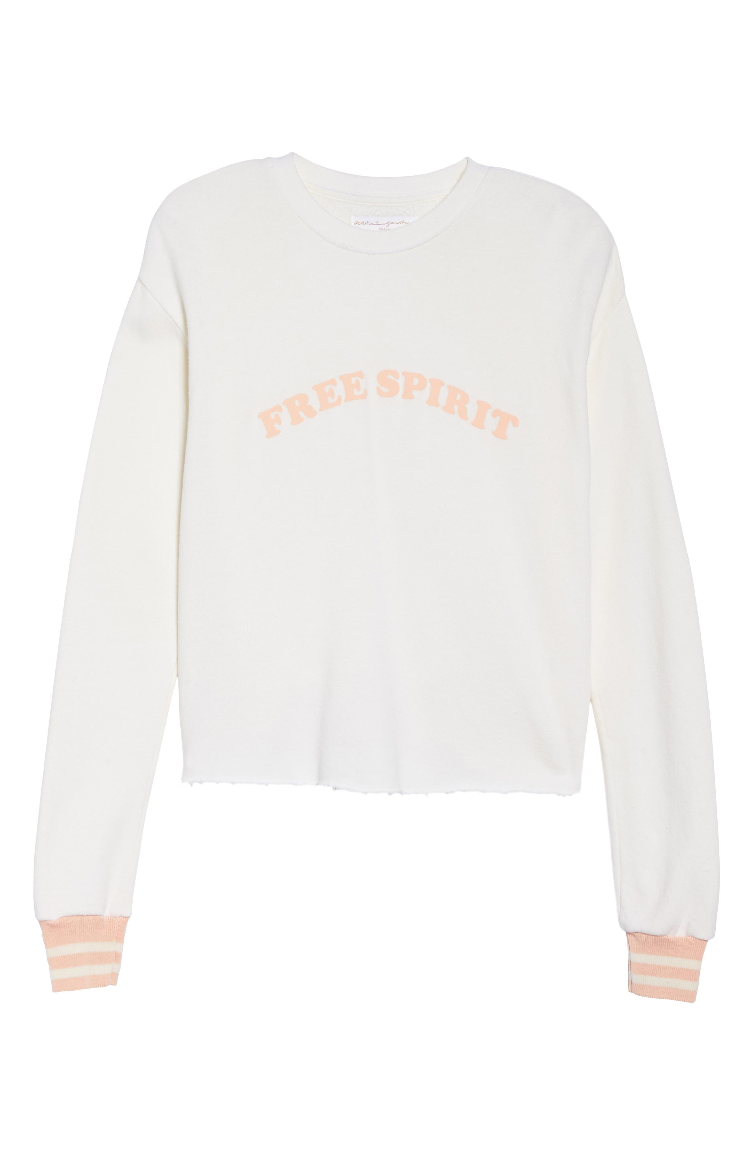 Free Spirit Crop Sweatshirt,                             Alternate thumbnail 7, color,                             114