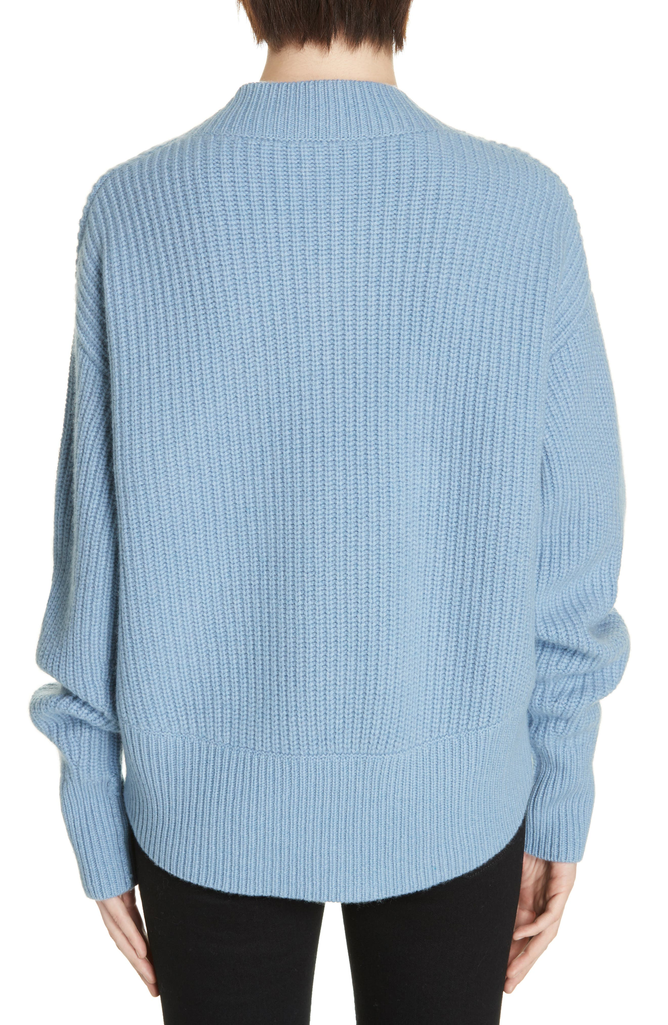 V-Neck Wool & Cashmere Sweater,                             Alternate thumbnail 2, color,                             BLUE COLONY
