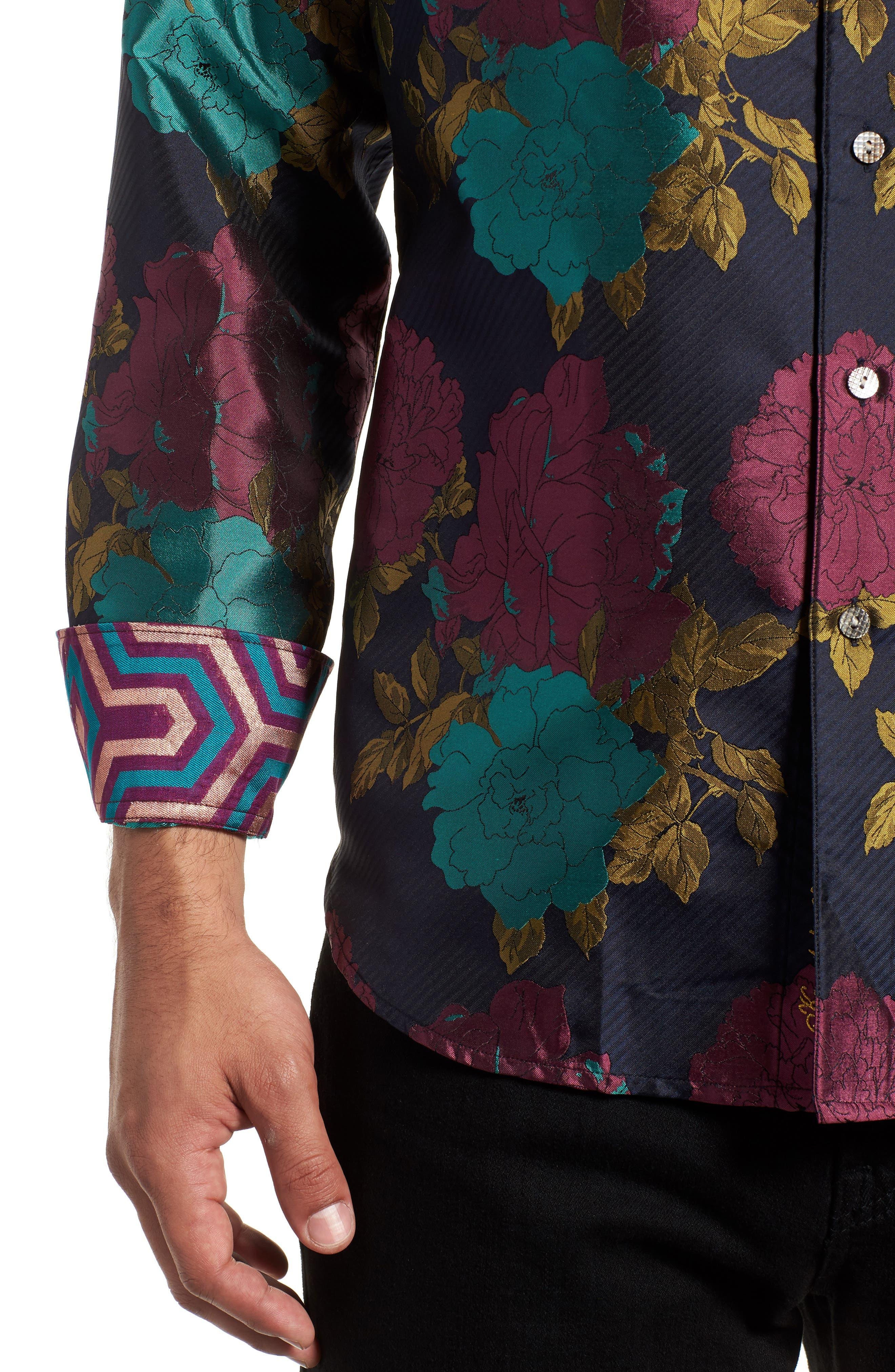 Tango Limited Edition Classic Fit Silk Sport Shirt,                             Alternate thumbnail 2, color,                             MULTI
