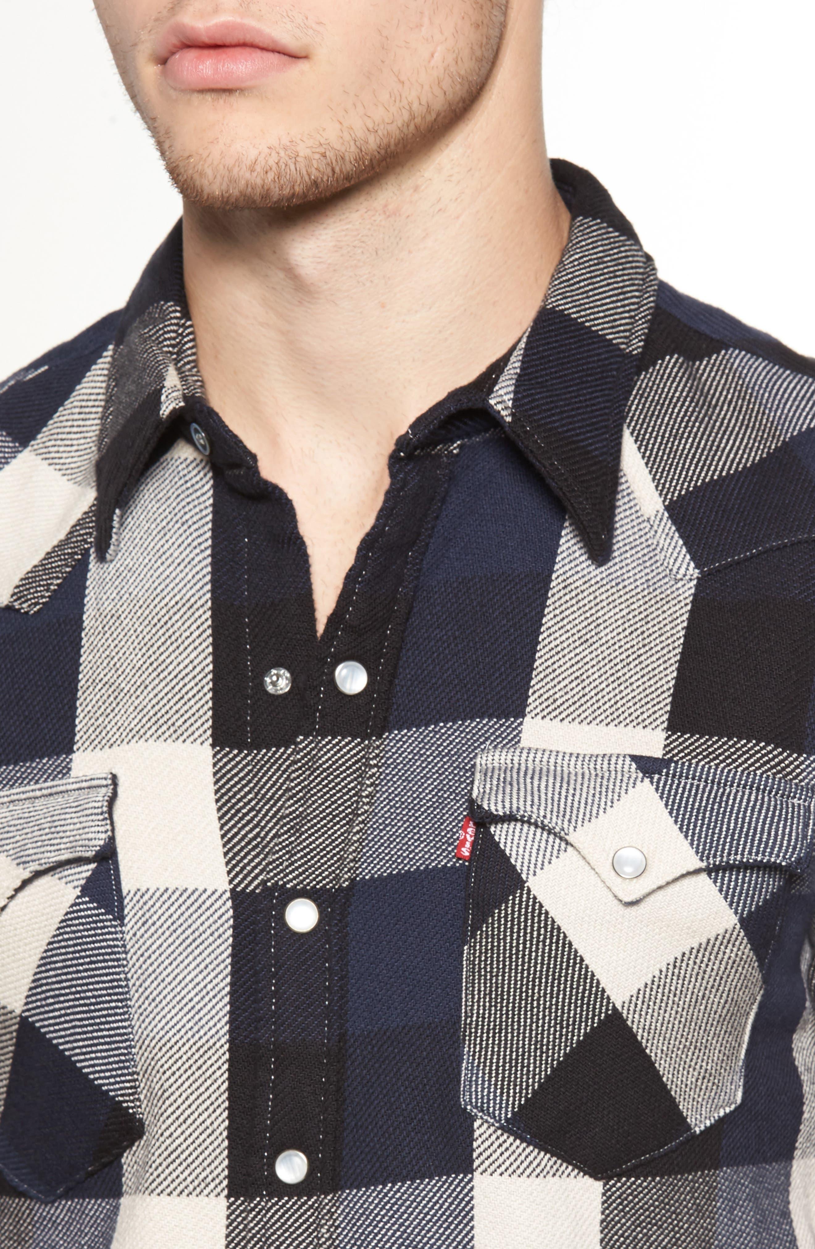 'Barstow' Denim Western Shirt,                             Alternate thumbnail 21, color,