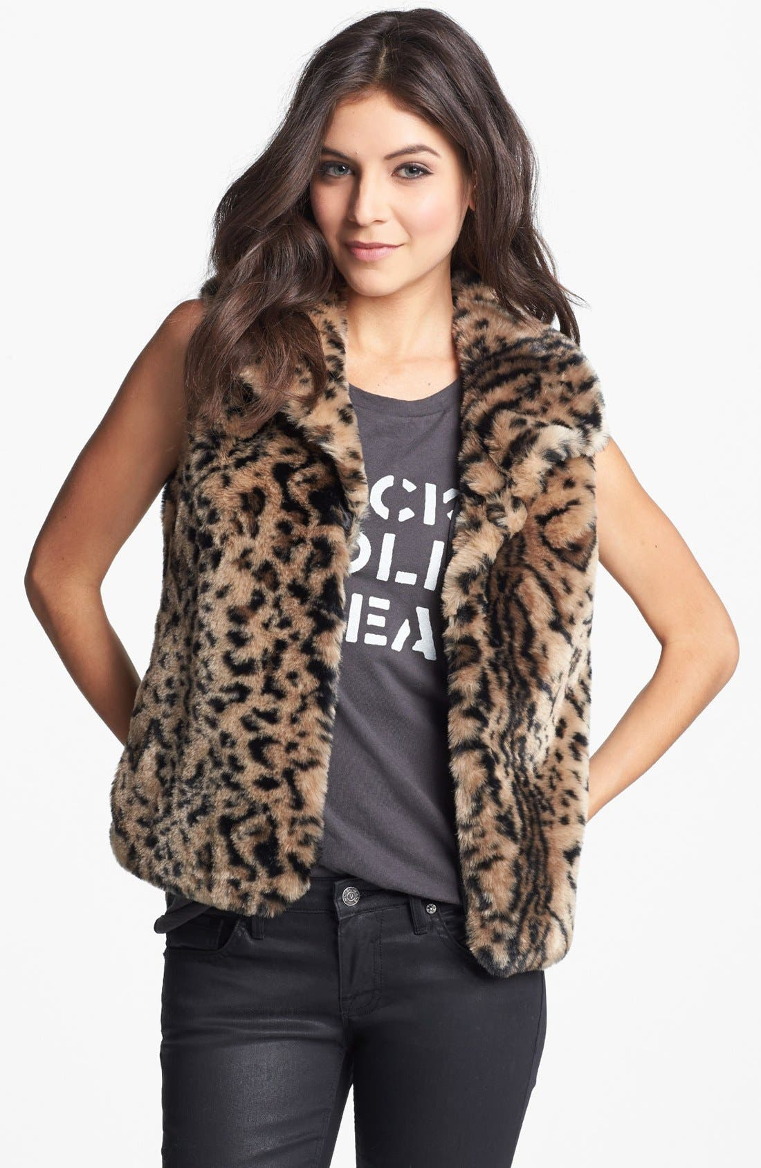 JACK Faux Fur Vest, Main, color, 200