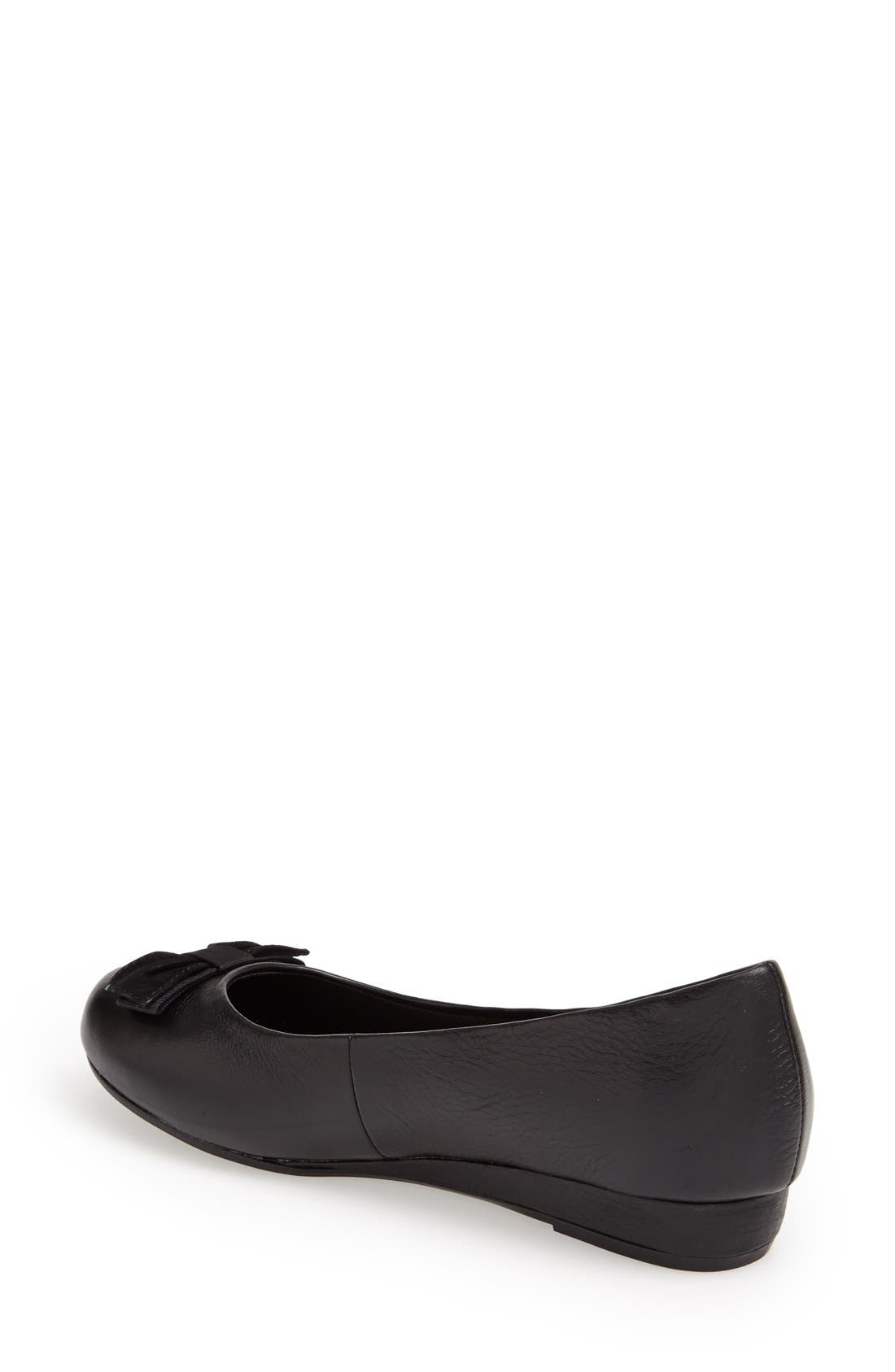 'Lydia' Leather Wedge Pump,                             Alternate thumbnail 2, color,                             001