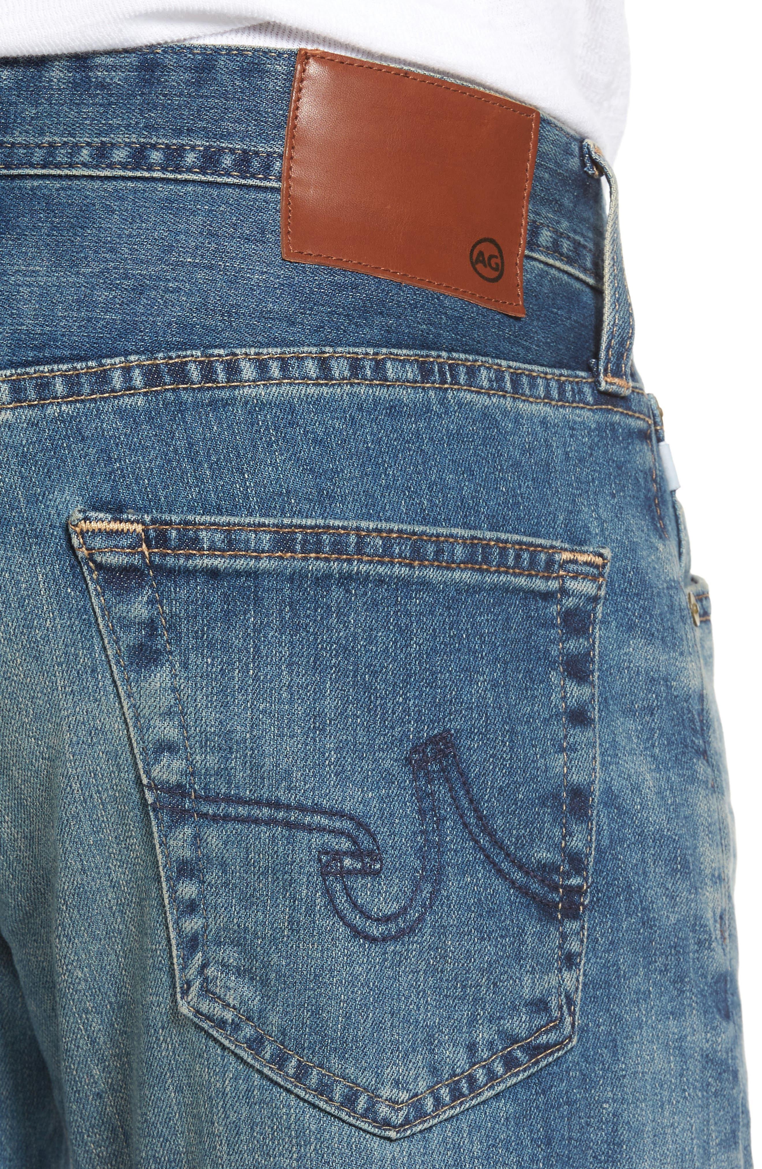 Graduate Slim Straight Leg Jeans,                             Alternate thumbnail 4, color,                             430