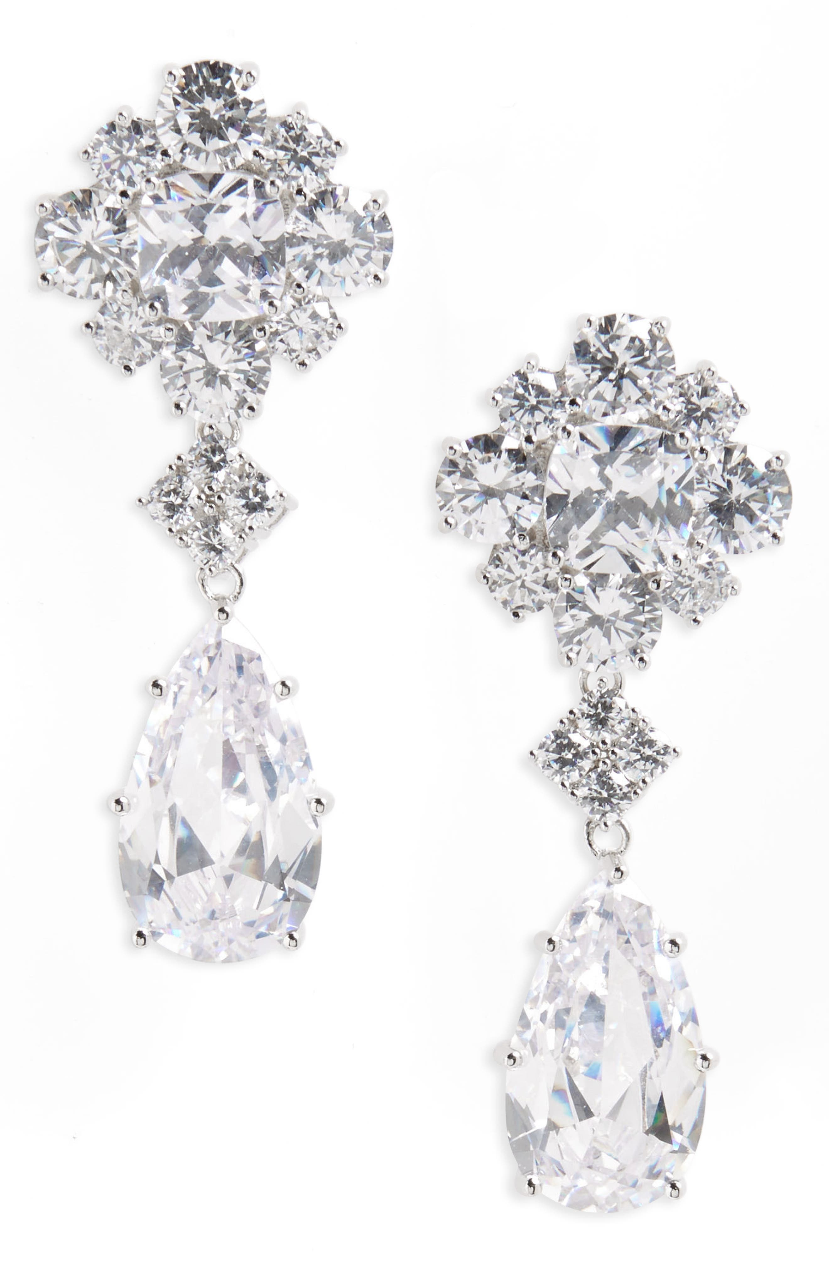 Cluster Drop Earrings,                         Main,                         color, 041