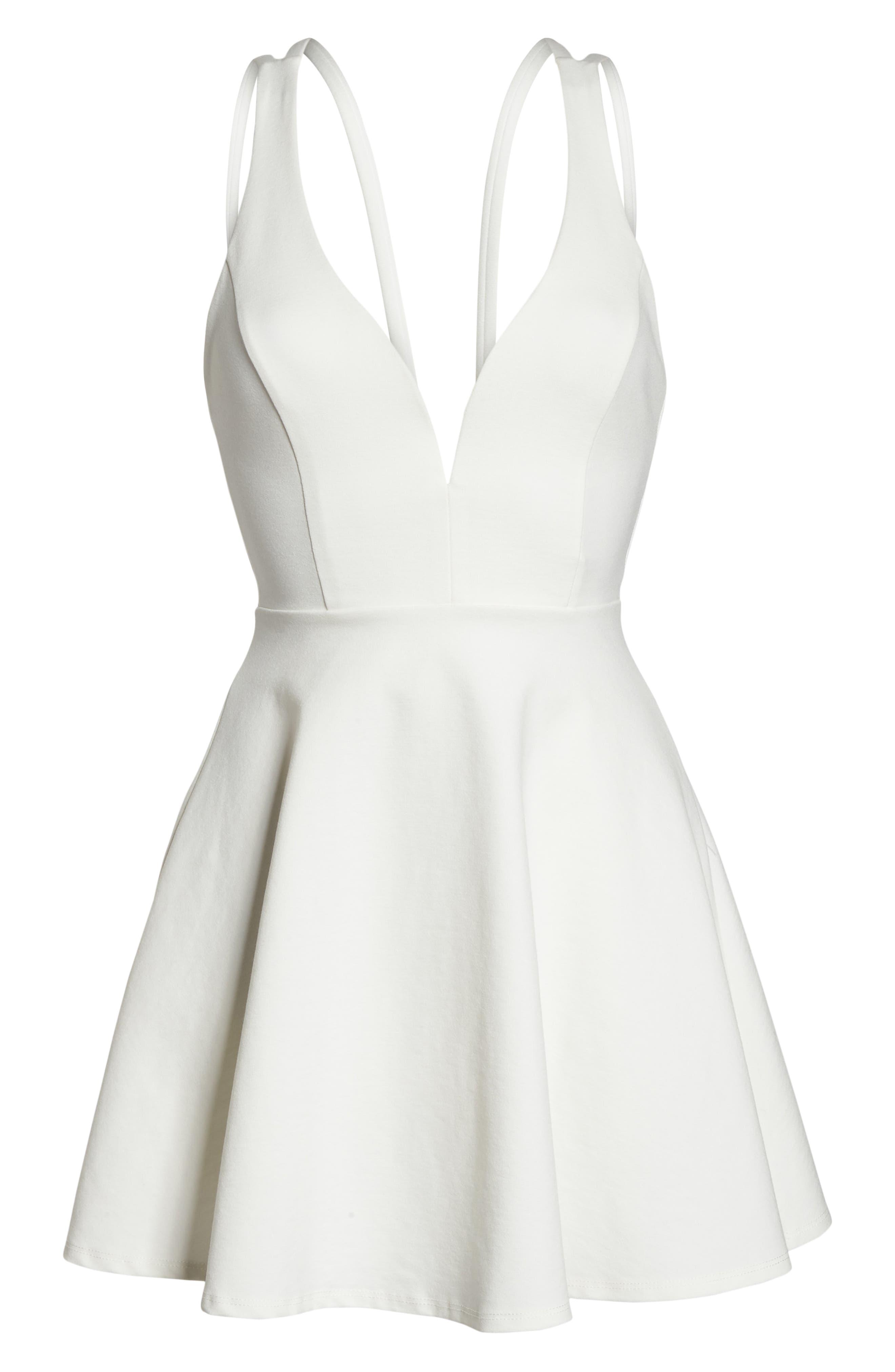 Love Galore Skater Dress,                             Alternate thumbnail 7, color,                             WHITE
