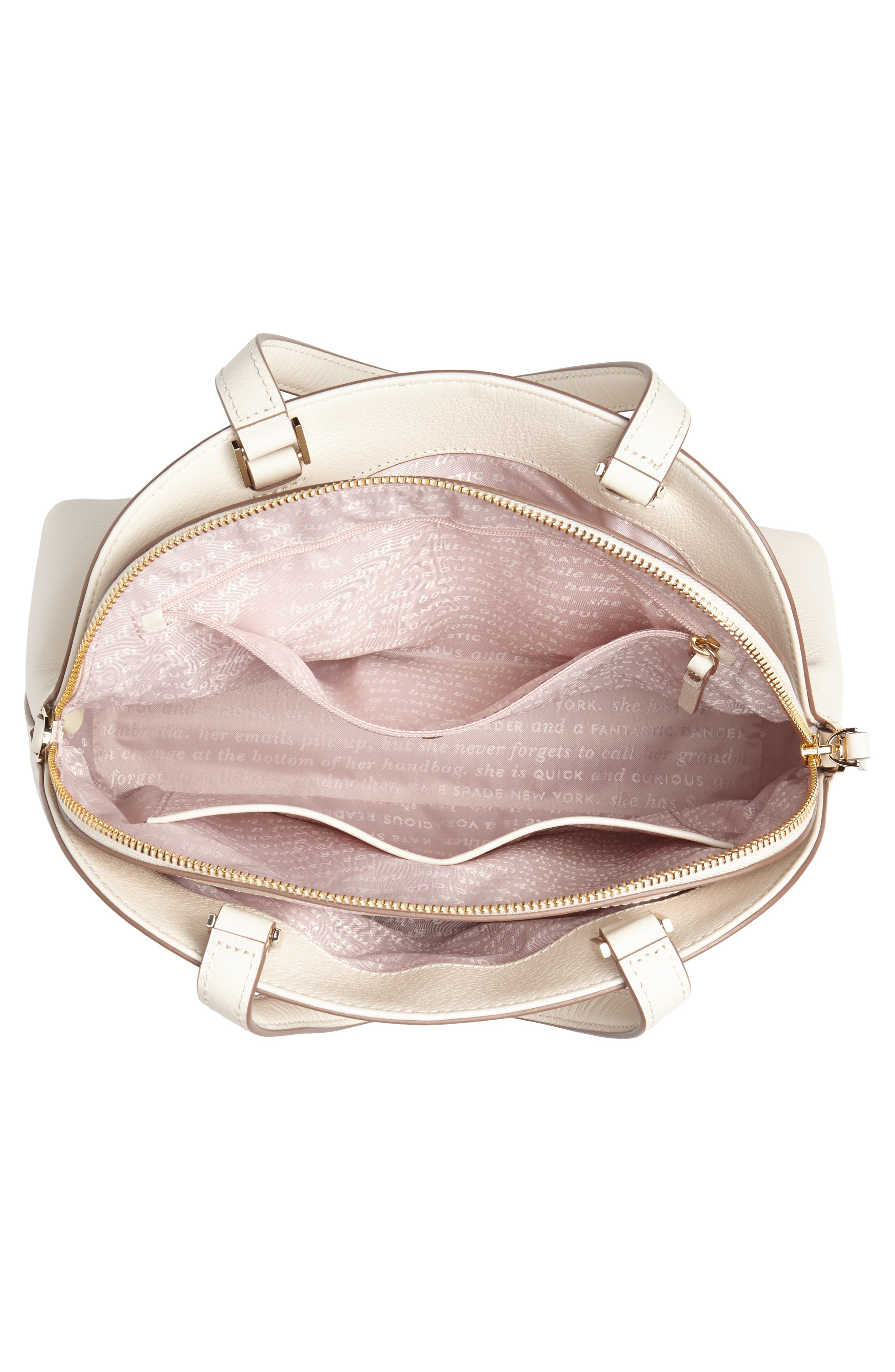 picnic perfect – lottie leather satchel,                             Alternate thumbnail 4, color,                             700