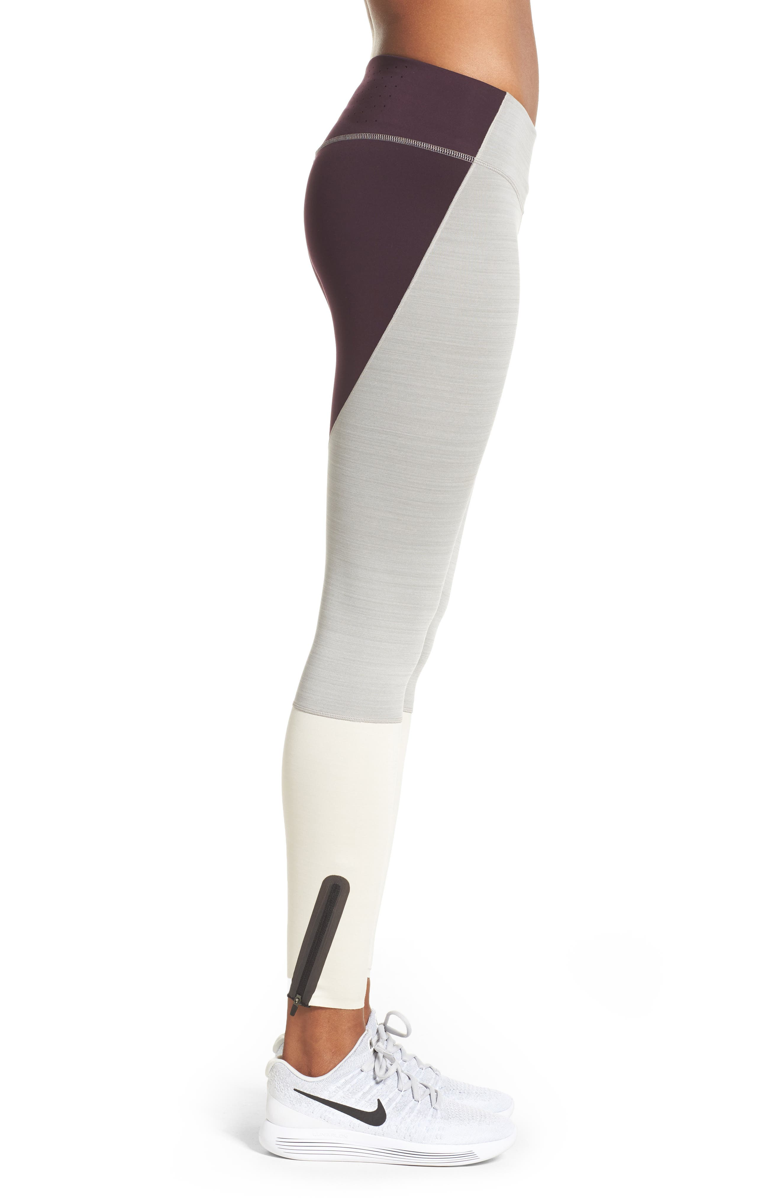 Legendary Mid Rise Zip Cuff Training Tights,                             Alternate thumbnail 10, color,