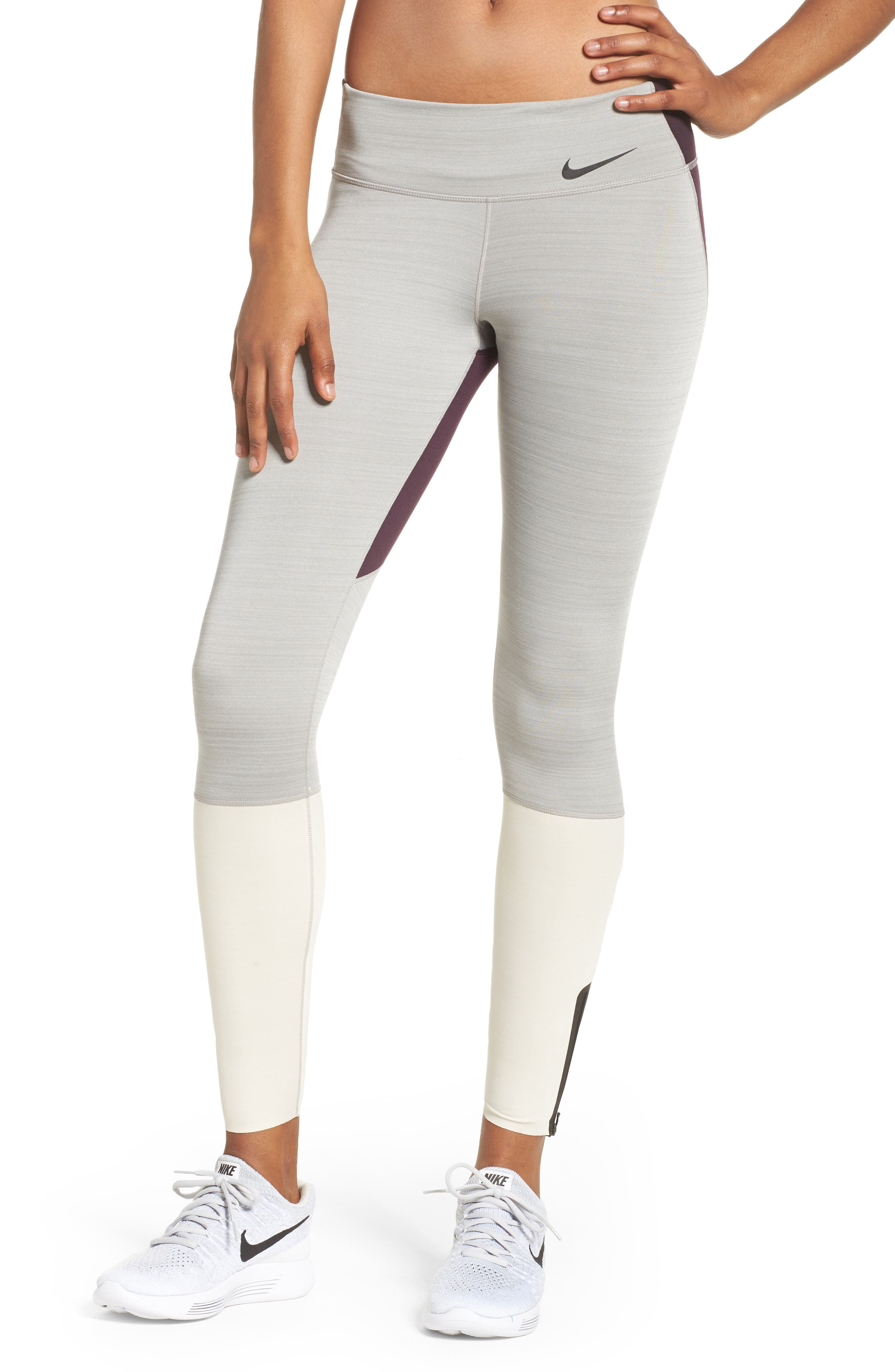 Legendary Mid Rise Zip Cuff Training Tights,                             Main thumbnail 2, color,