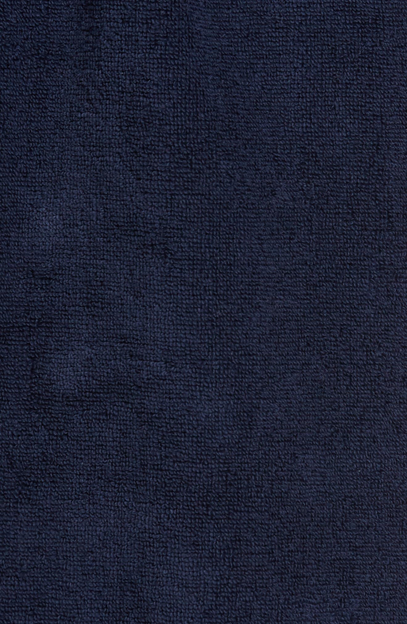 Hydro Cotton Terry Robe,                             Alternate thumbnail 5, color,                             NAVY