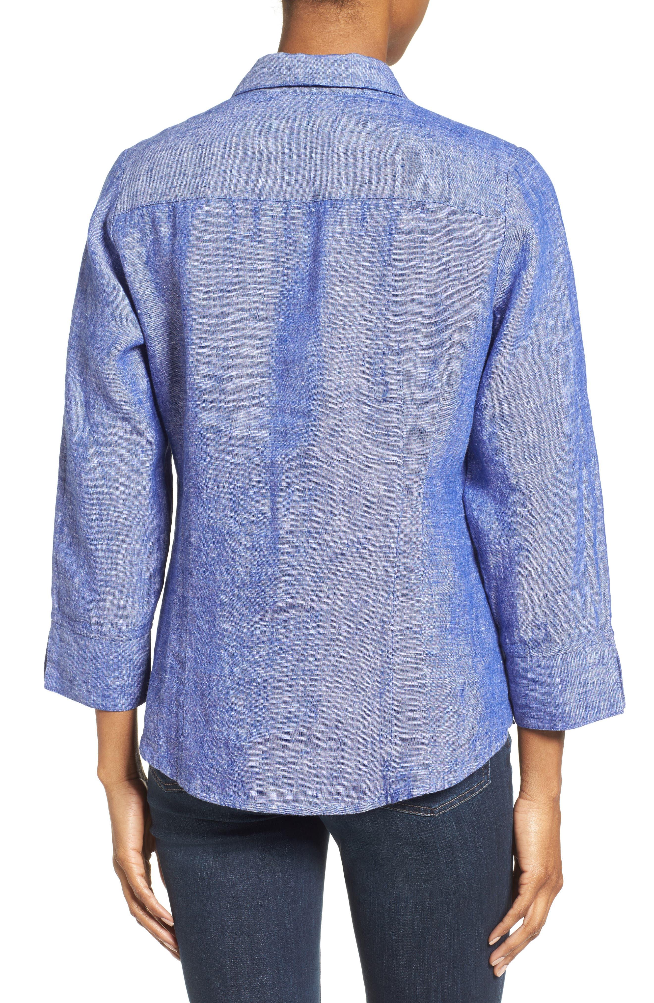 Linen Chambray Shirt,                             Alternate thumbnail 13, color,