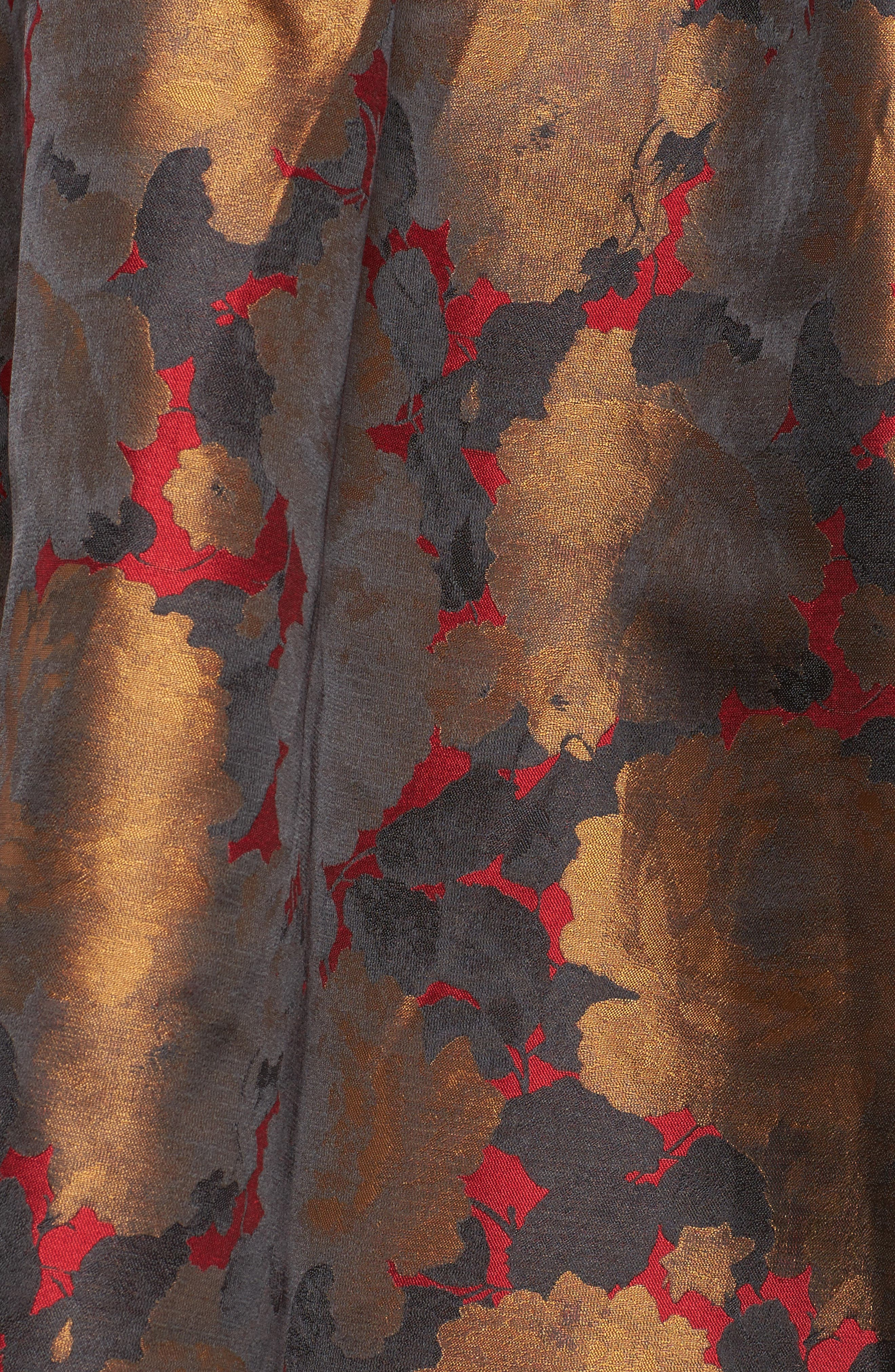 Mixed Media Fit & Flare Dress,                             Alternate thumbnail 5, color,                             009