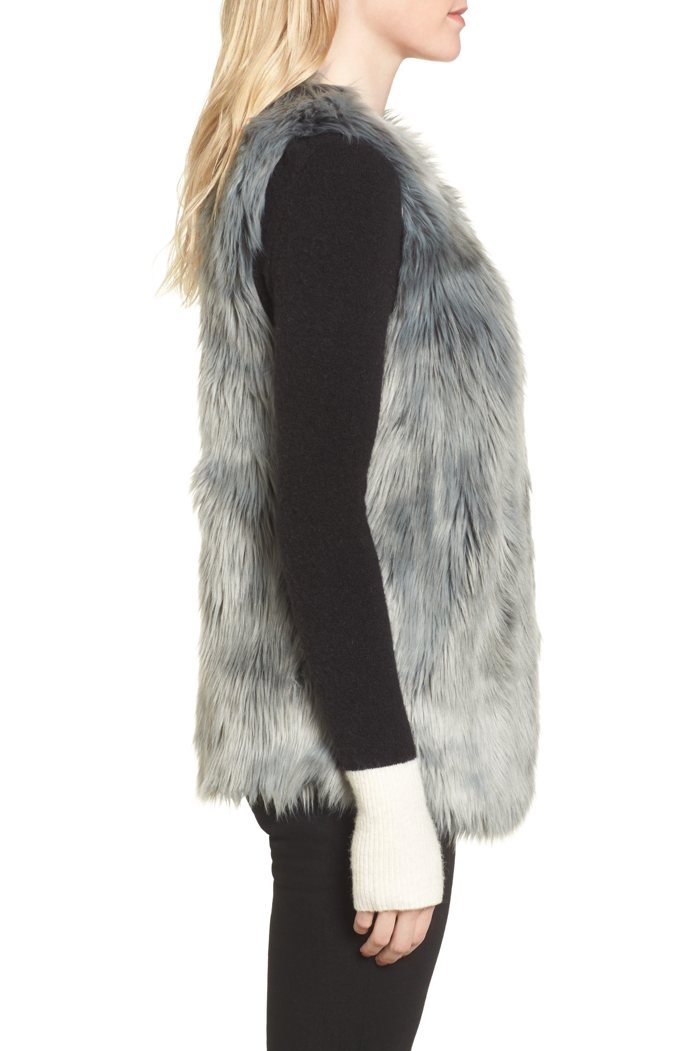Faux Fur Vest,                             Alternate thumbnail 3, color,                             425