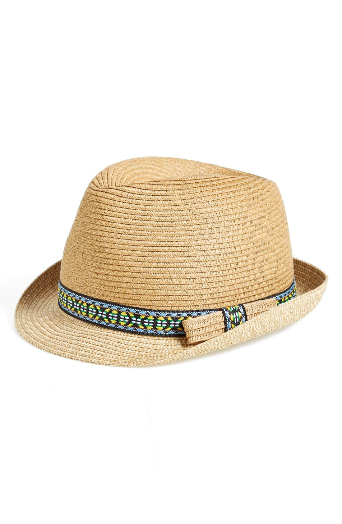 Fedora with Embroidered Band,                             Main thumbnail 1, color,                             235