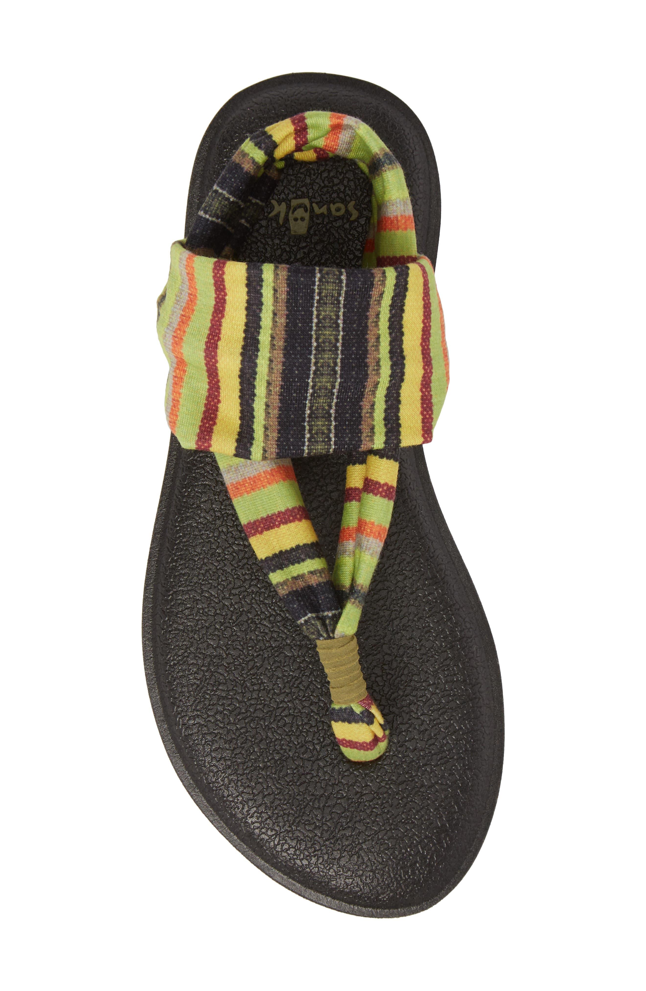 Yoga Sling Burst Sandal,                             Alternate thumbnail 5, color,                             GREEN KAUAI BLANKET
