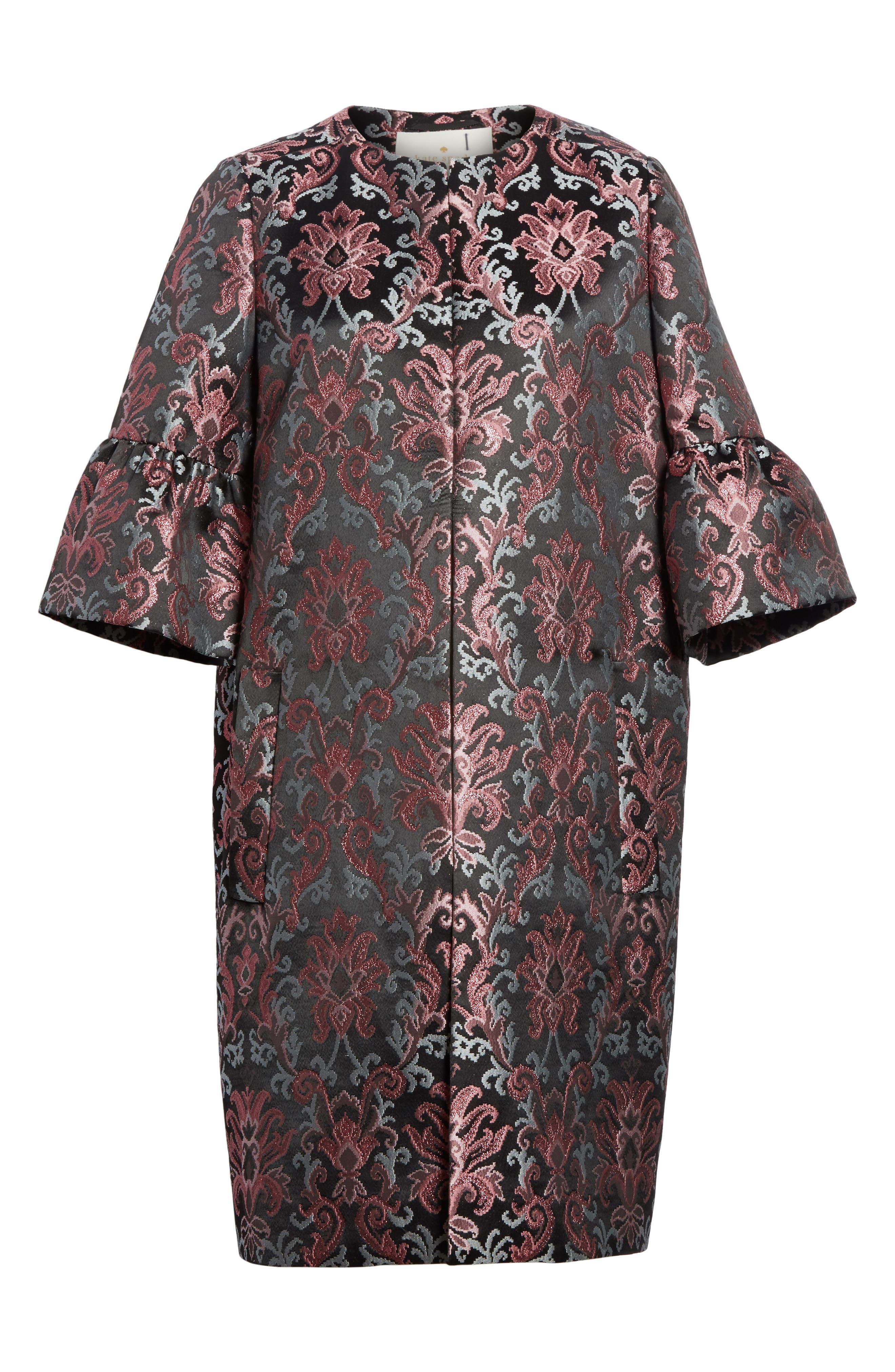 tapestry jacquard coat,                             Alternate thumbnail 5, color,                             004