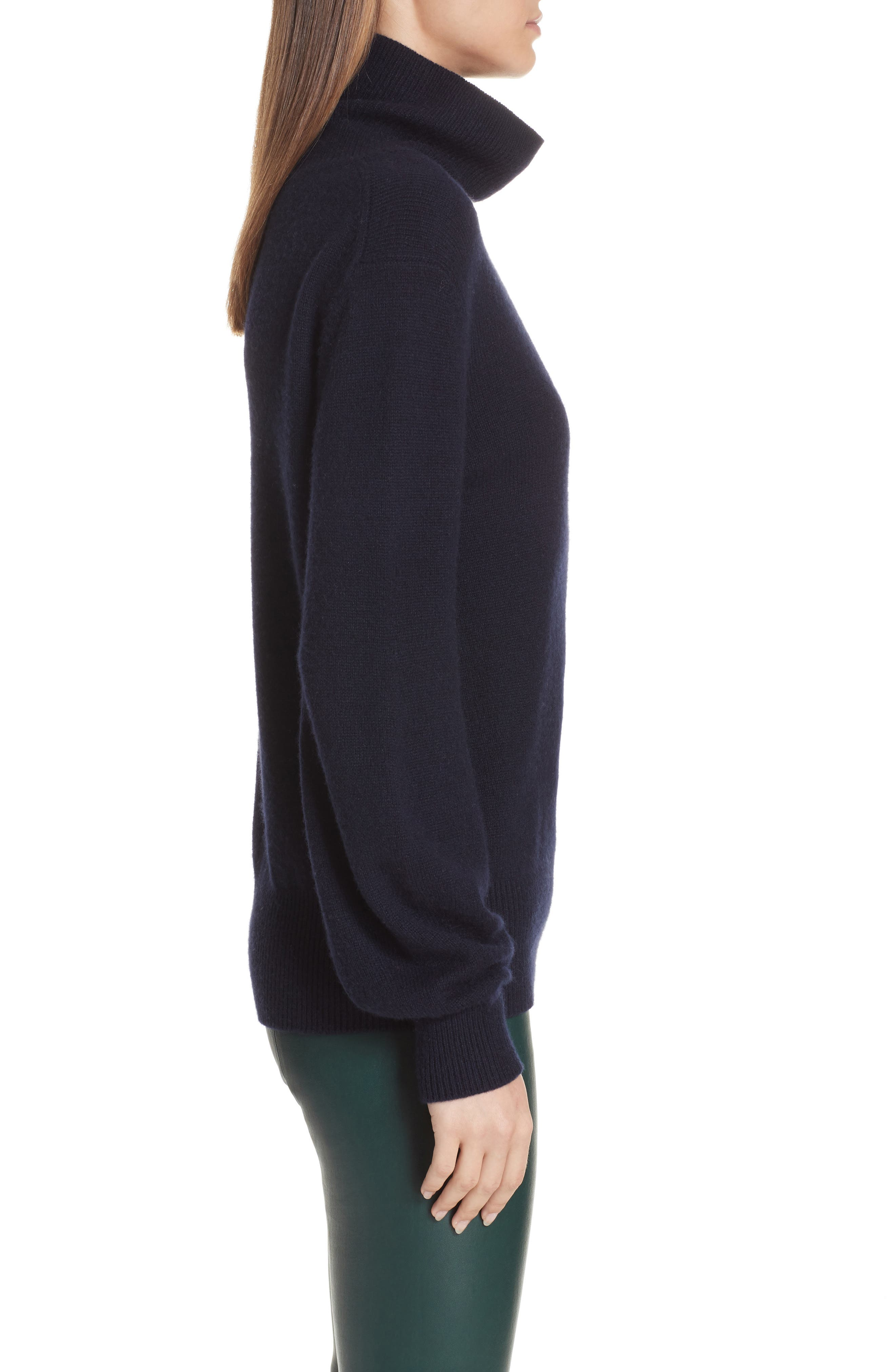 Bishop Sleeve Cashmere Sweater,                             Alternate thumbnail 3, color,                             403