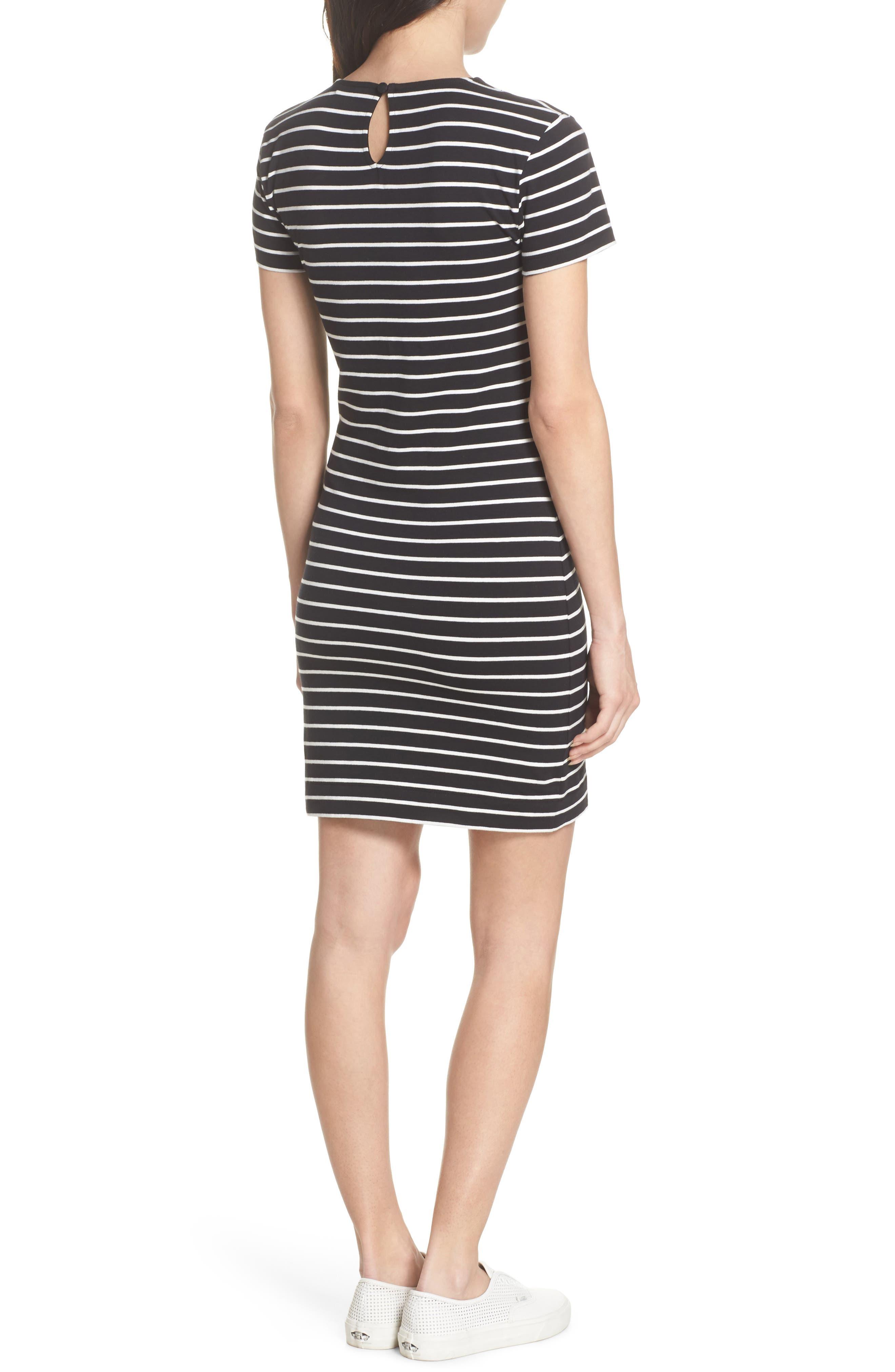 Knit Stripe Body-Con Dress,                             Alternate thumbnail 2, color,                             006