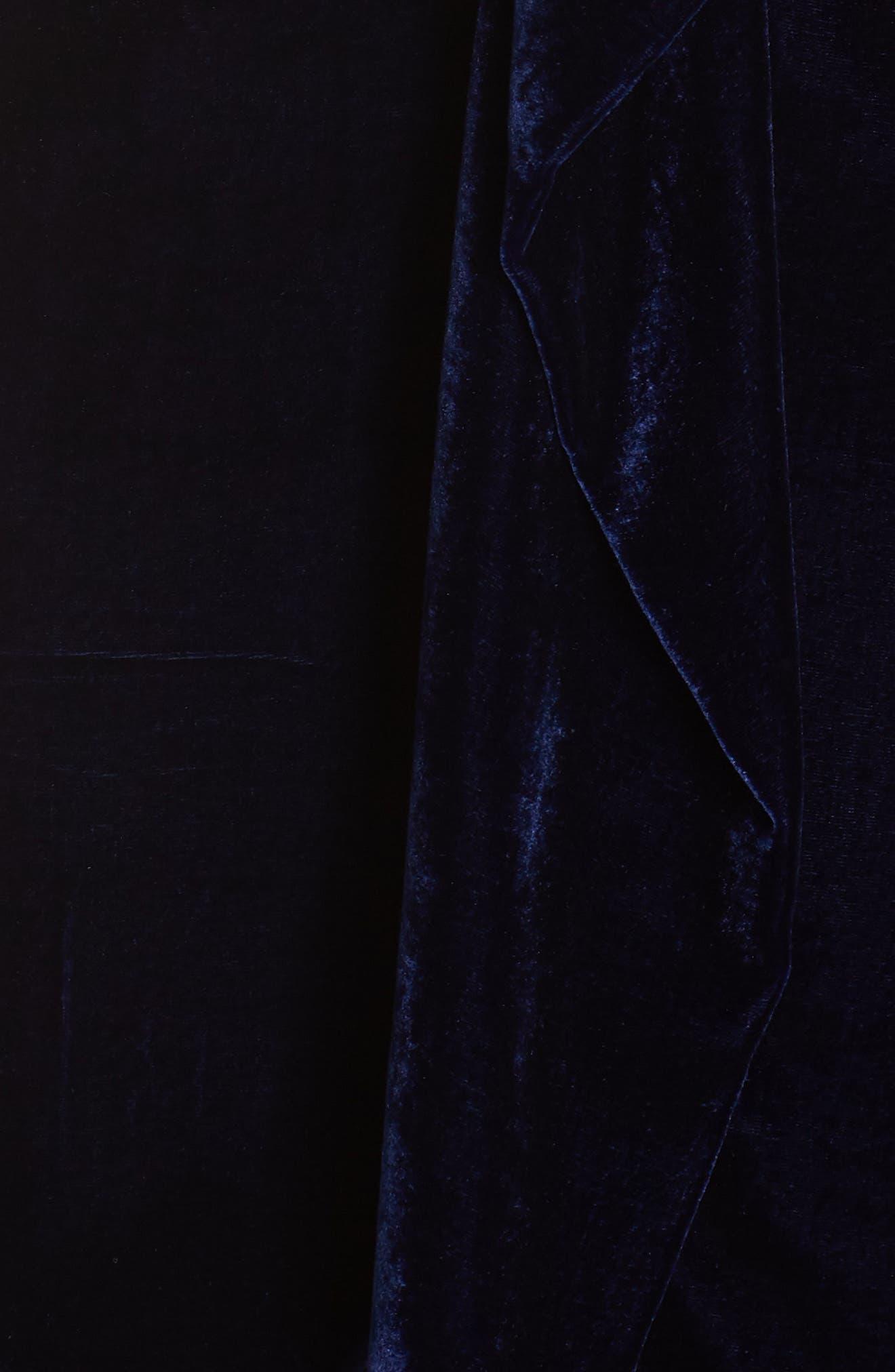 Drape Midi Dress,                             Alternate thumbnail 6, color,                             MIDNIGHT BLUE