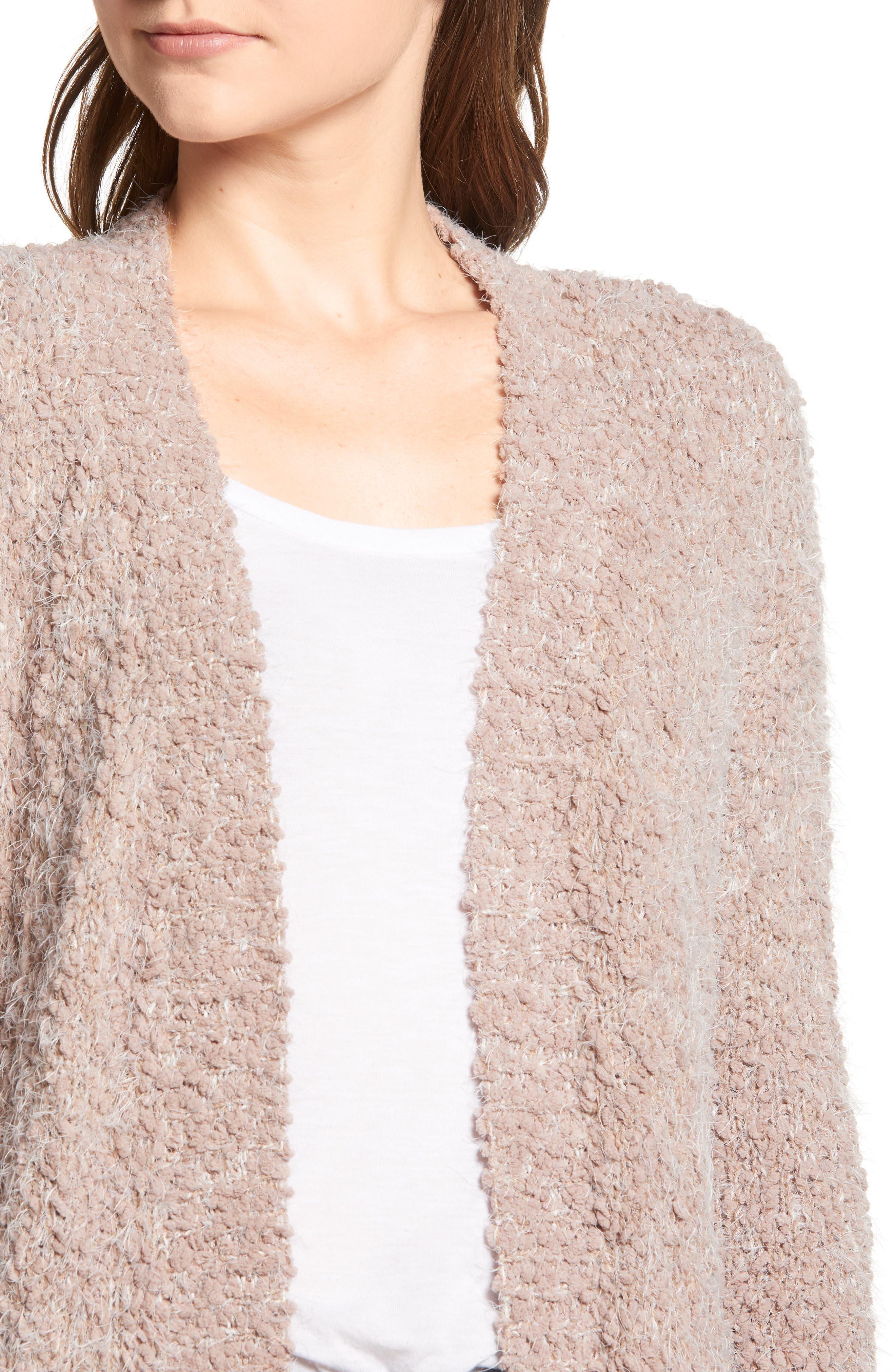 LIRA CLOTHING,                             Miranda Knit Cardigan,                             Alternate thumbnail 4, color,                             DUSTY ROSE