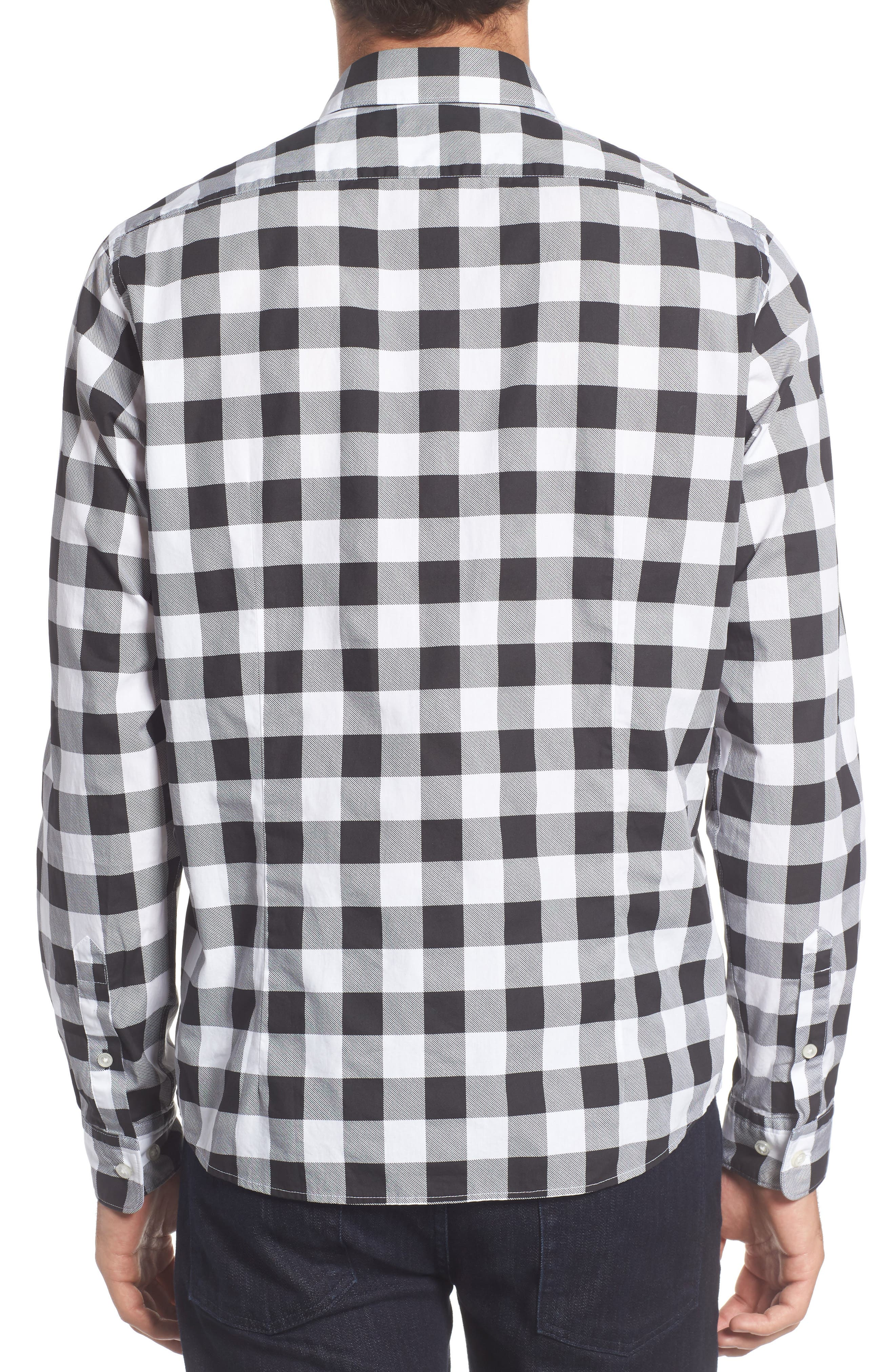 Lance Regular Fit Buffalo Plaid Sport Shirt,                             Alternate thumbnail 2, color,                             001