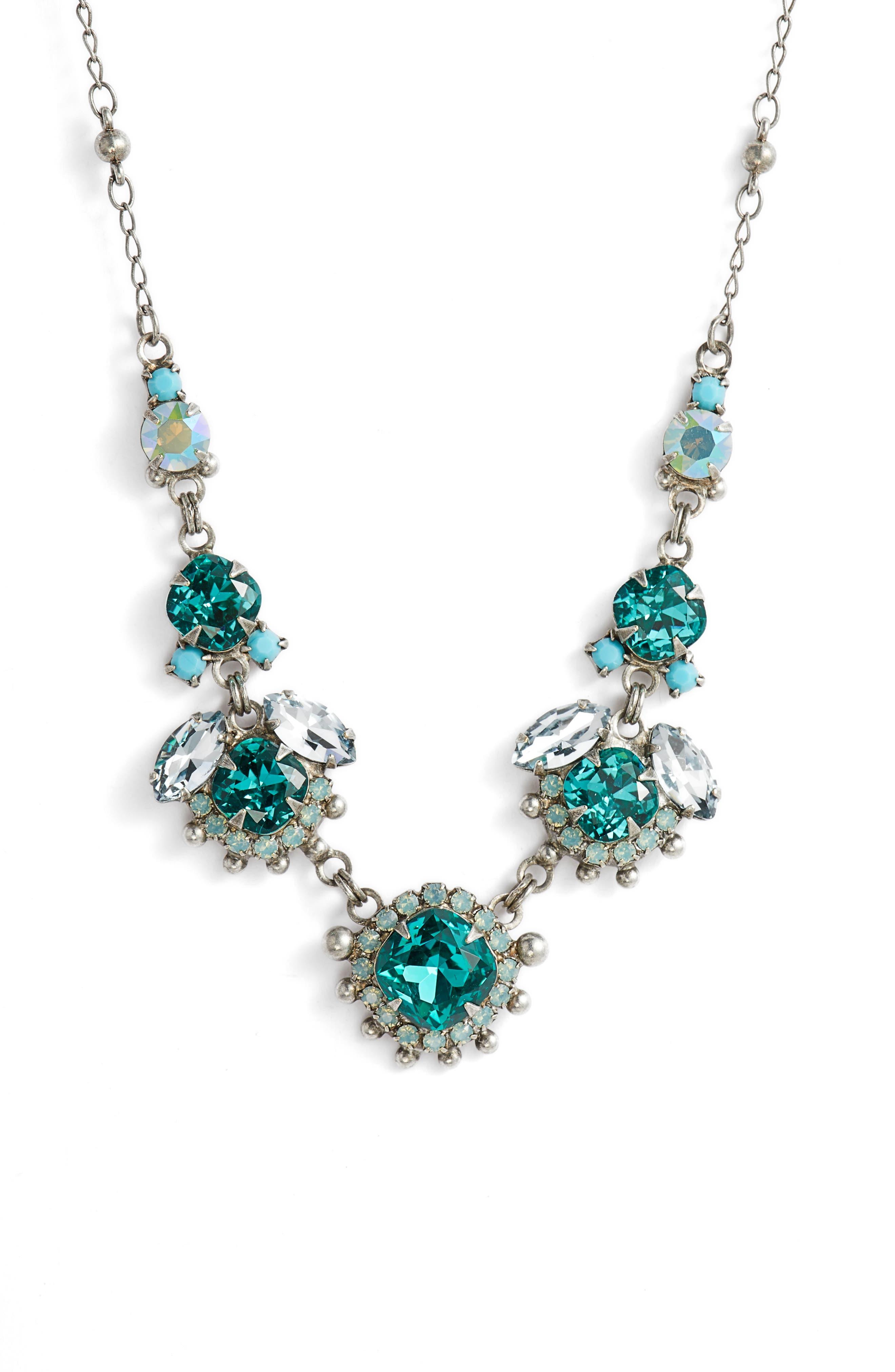 California Poppy Crystal Necklace,                             Main thumbnail 1, color,                             440