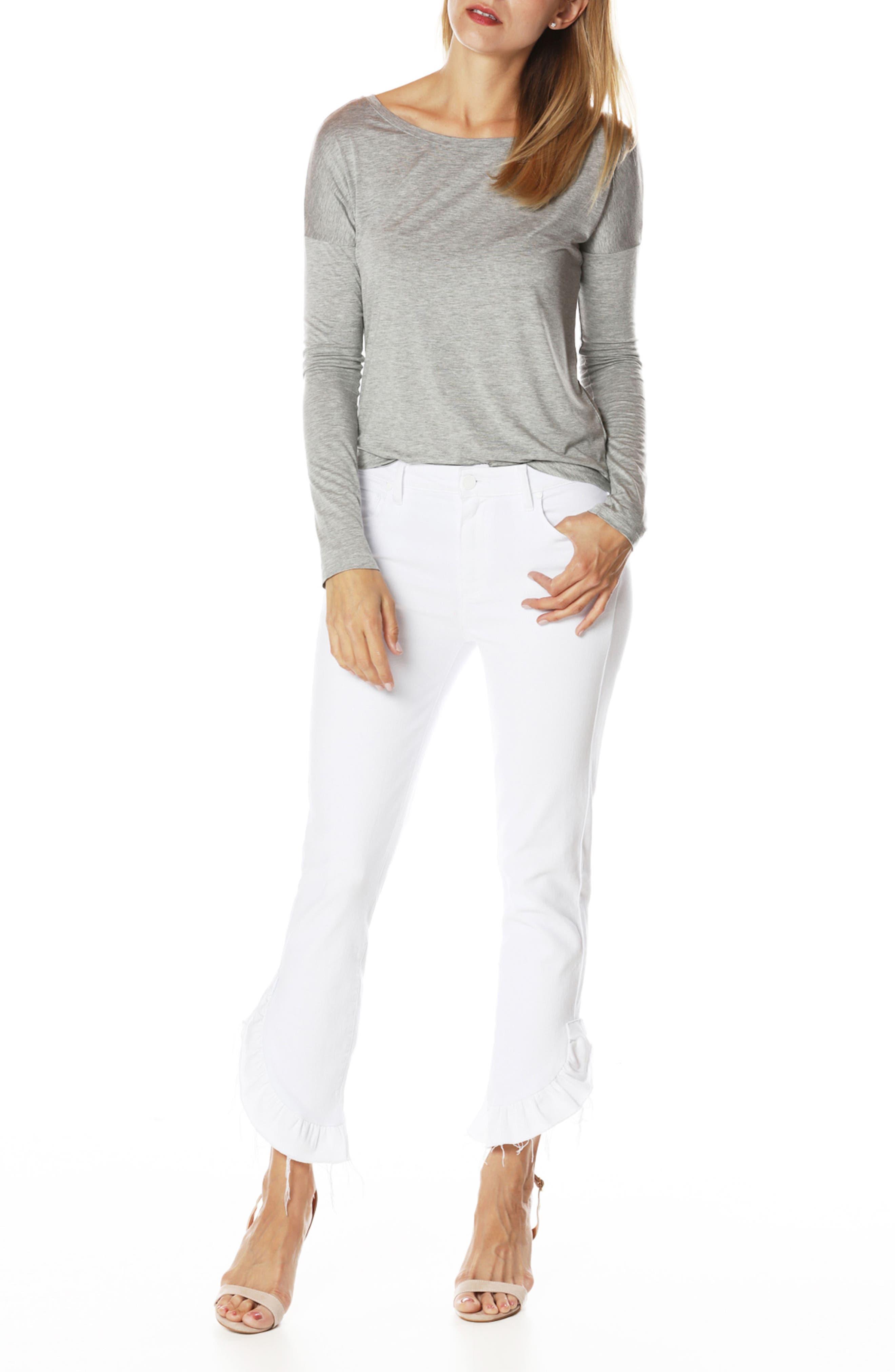 Jacqueline Crop Straight Leg Jeans,                             Alternate thumbnail 7, color,                             100