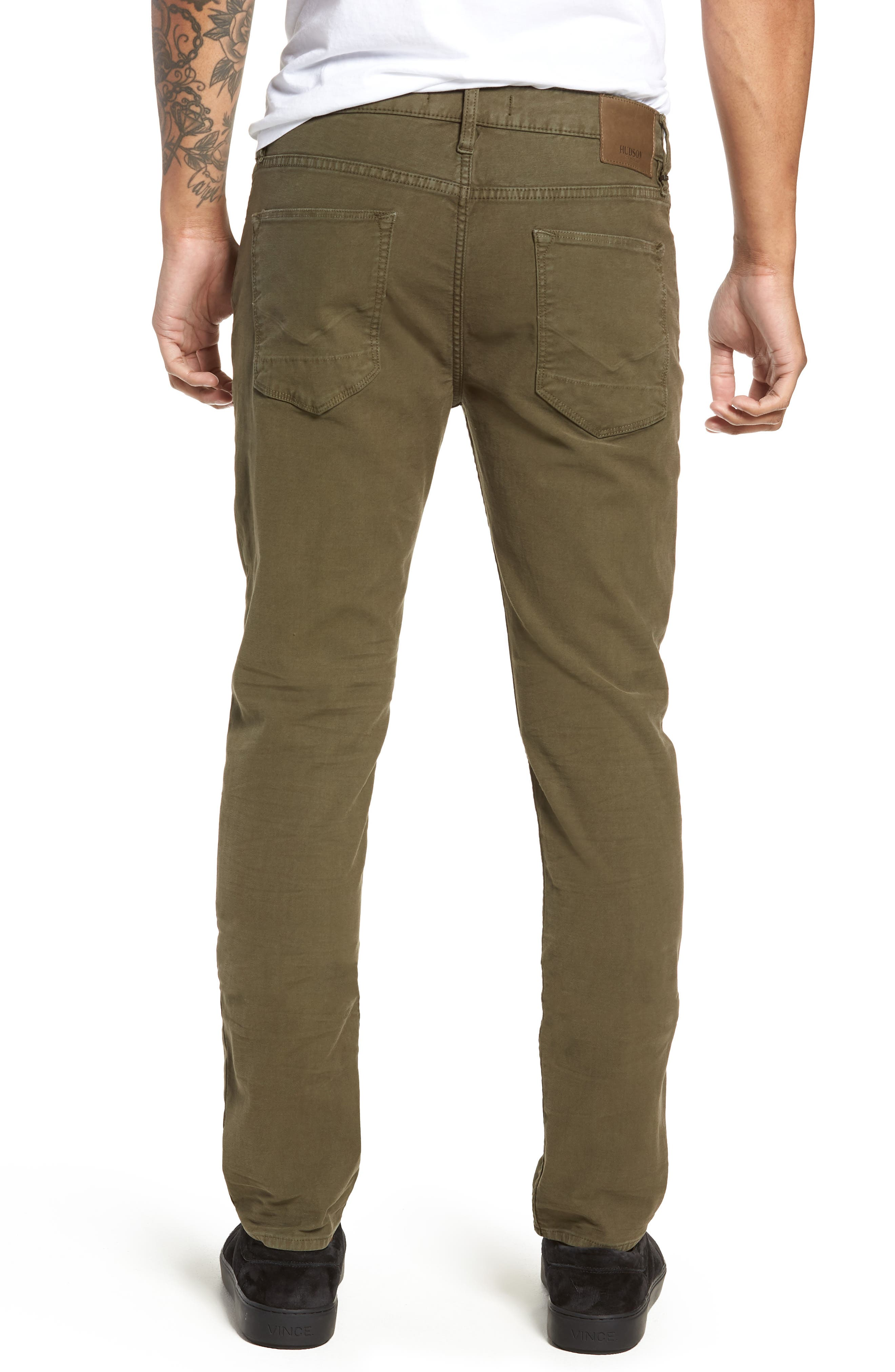 Axl Skinny Fit Jeans,                             Alternate thumbnail 2, color,                             FATIGUE GREEN