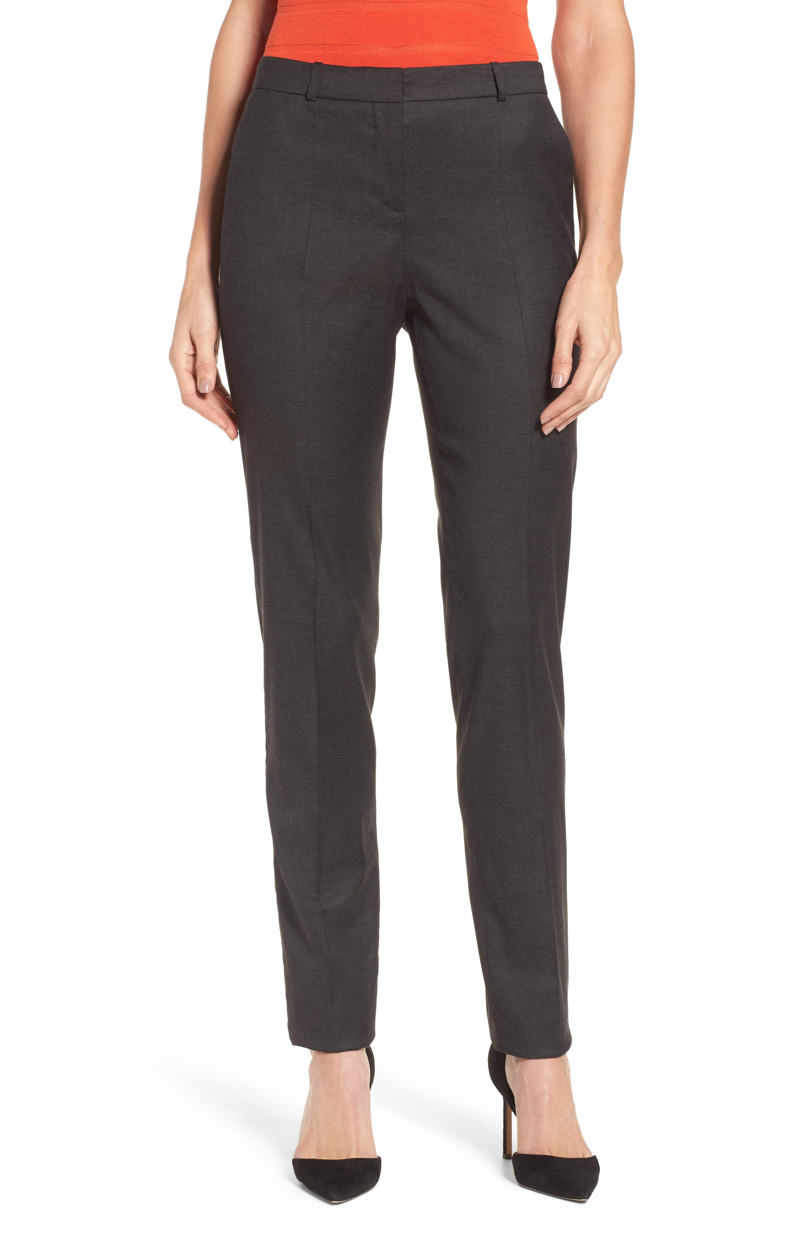 Tilunana Stretch Wool Blend Suit Trousers,                             Main thumbnail 1, color,                             094