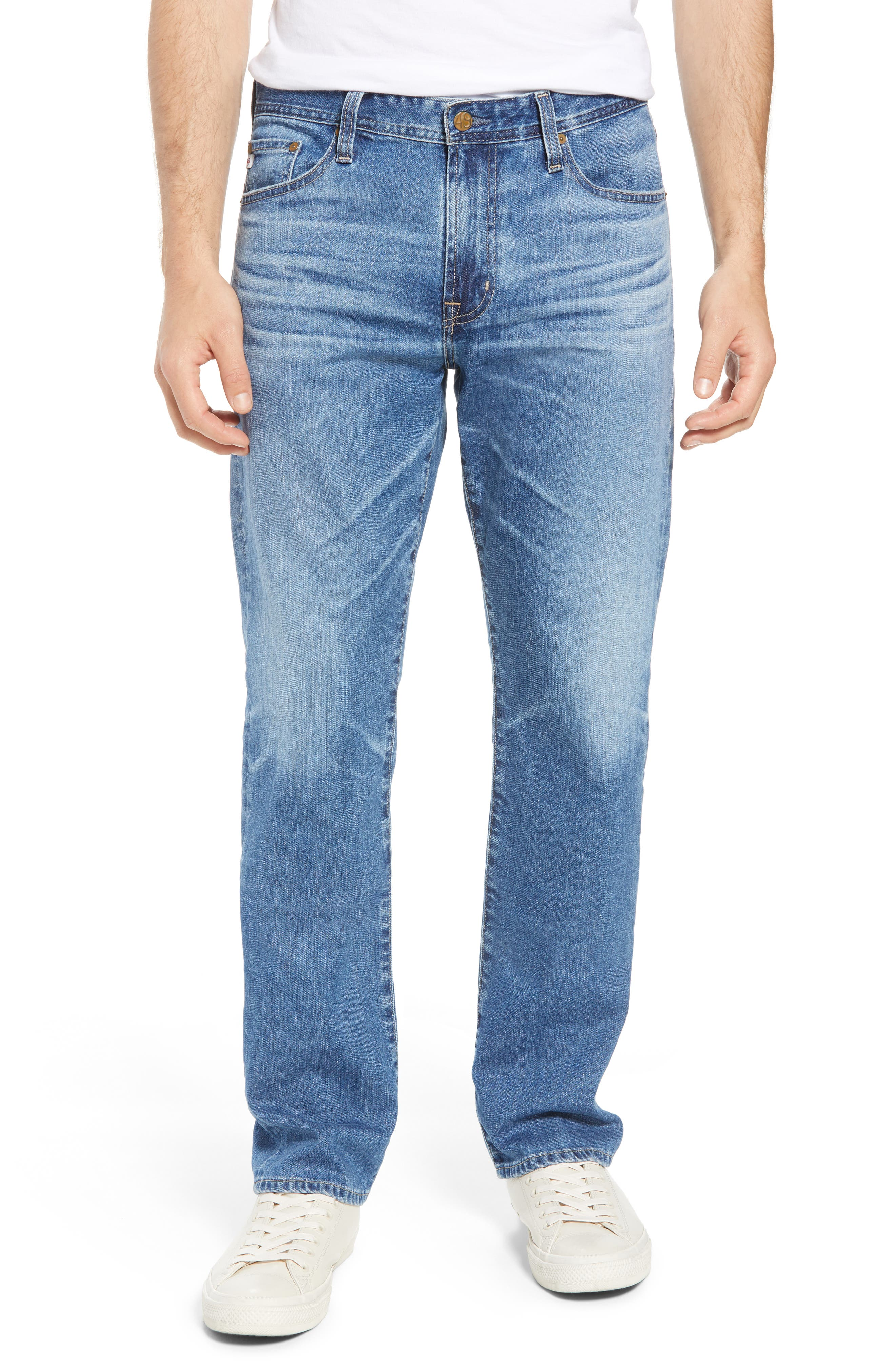 Everett Slim Straight Leg Jeans,                         Main,                         color, 15 YEARS OPEN ROAD