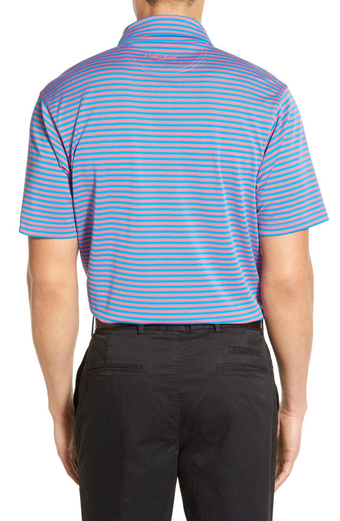 XH2O Feed Stripe Stretch Golf Polo,                             Alternate thumbnail 32, color,