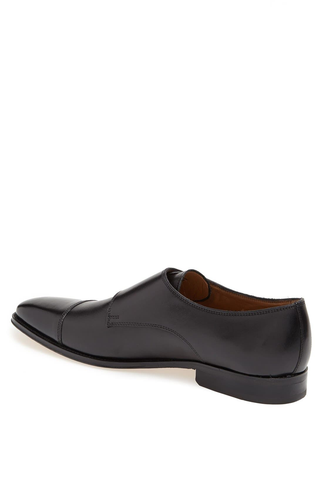 'Classico' Double Monk Strap Slip-On,                             Alternate thumbnail 2, color,                             BLACK