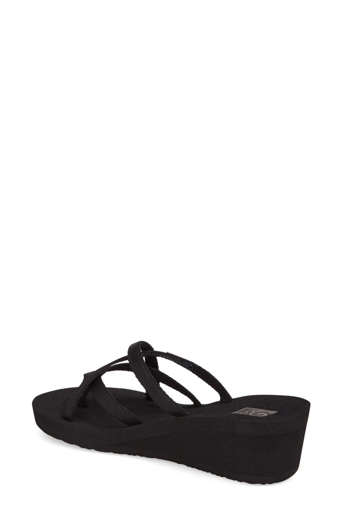 'Mandalyn' Wedge Sandal,                             Alternate thumbnail 2, color,                             BLACK