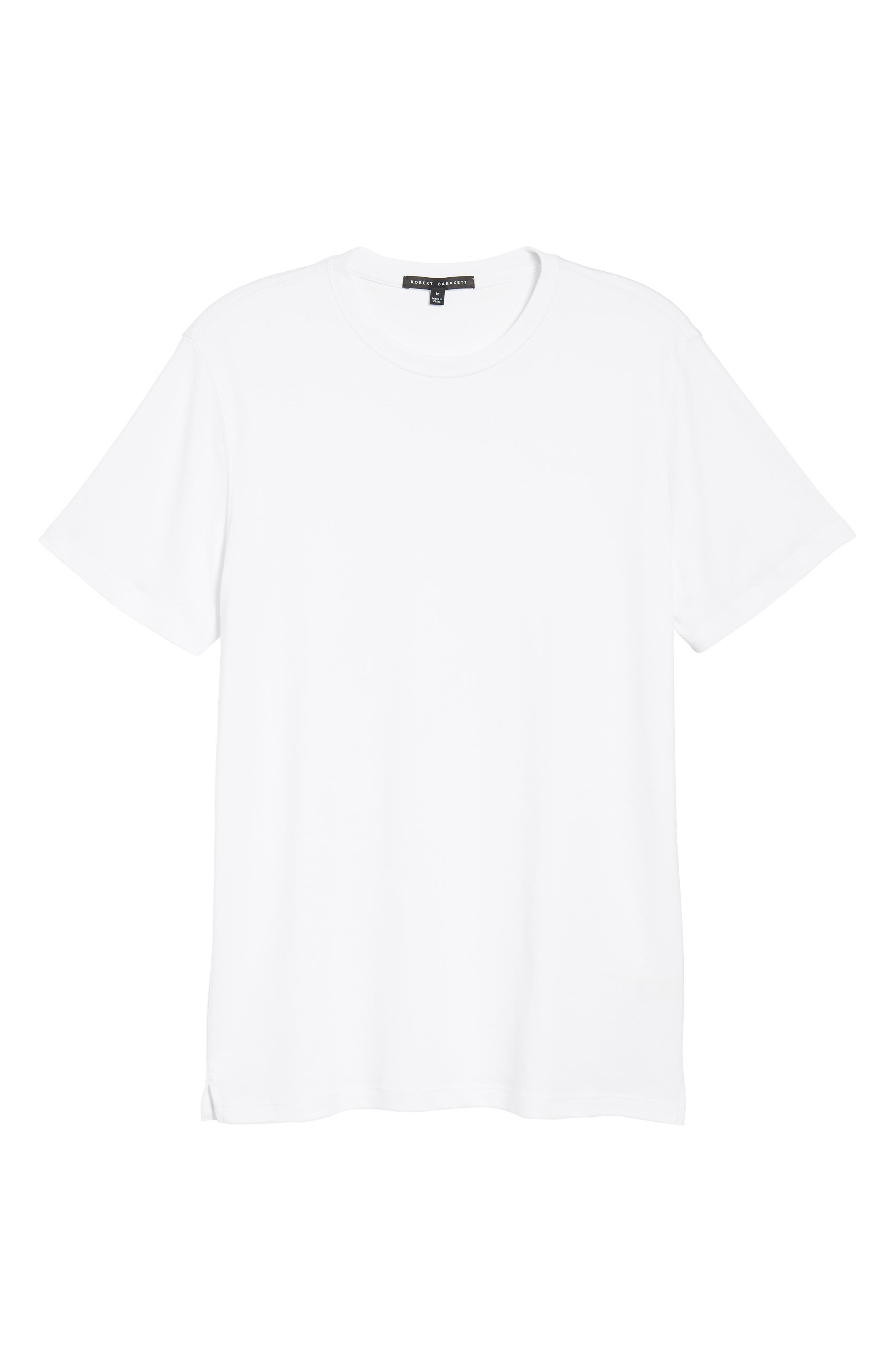 'Georgia' Crewneck T-Shirt,                             Alternate thumbnail 6, color,                             WHI