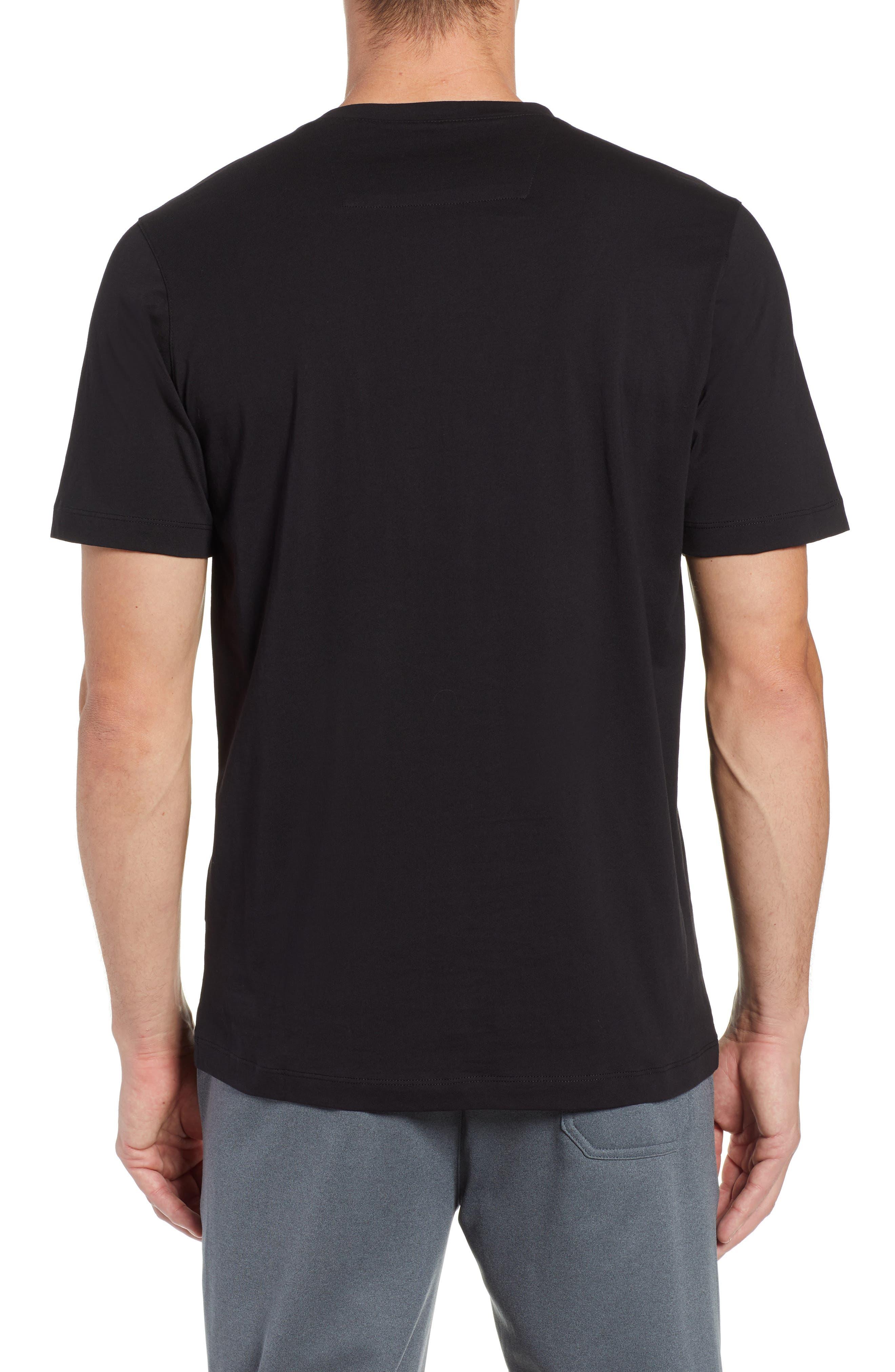 Crewneck T-Shirt,                             Alternate thumbnail 2, color,                             BLACK