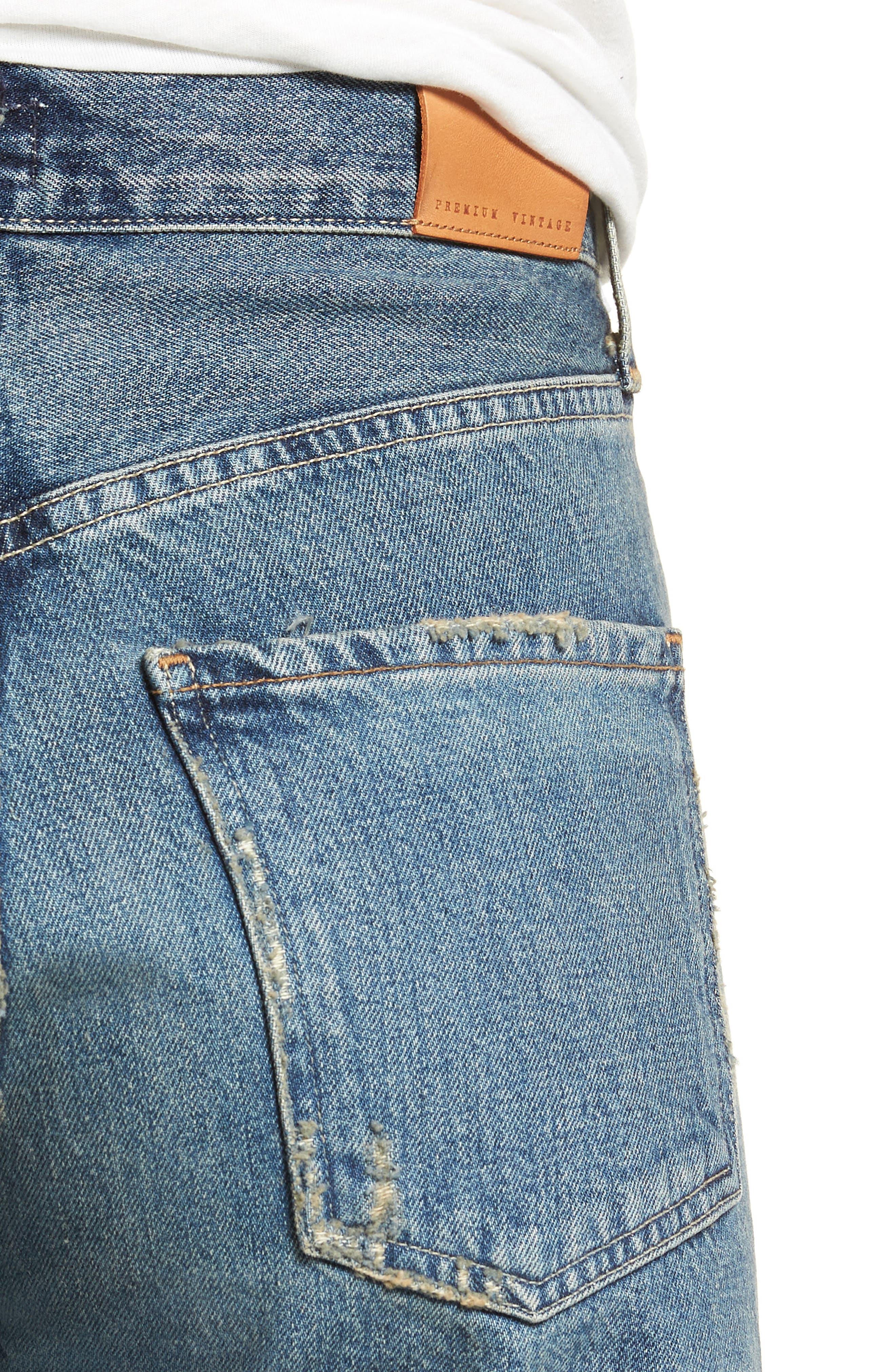 Emma High Waist Crop Wide Leg Jeans,                             Alternate thumbnail 4, color,                             428